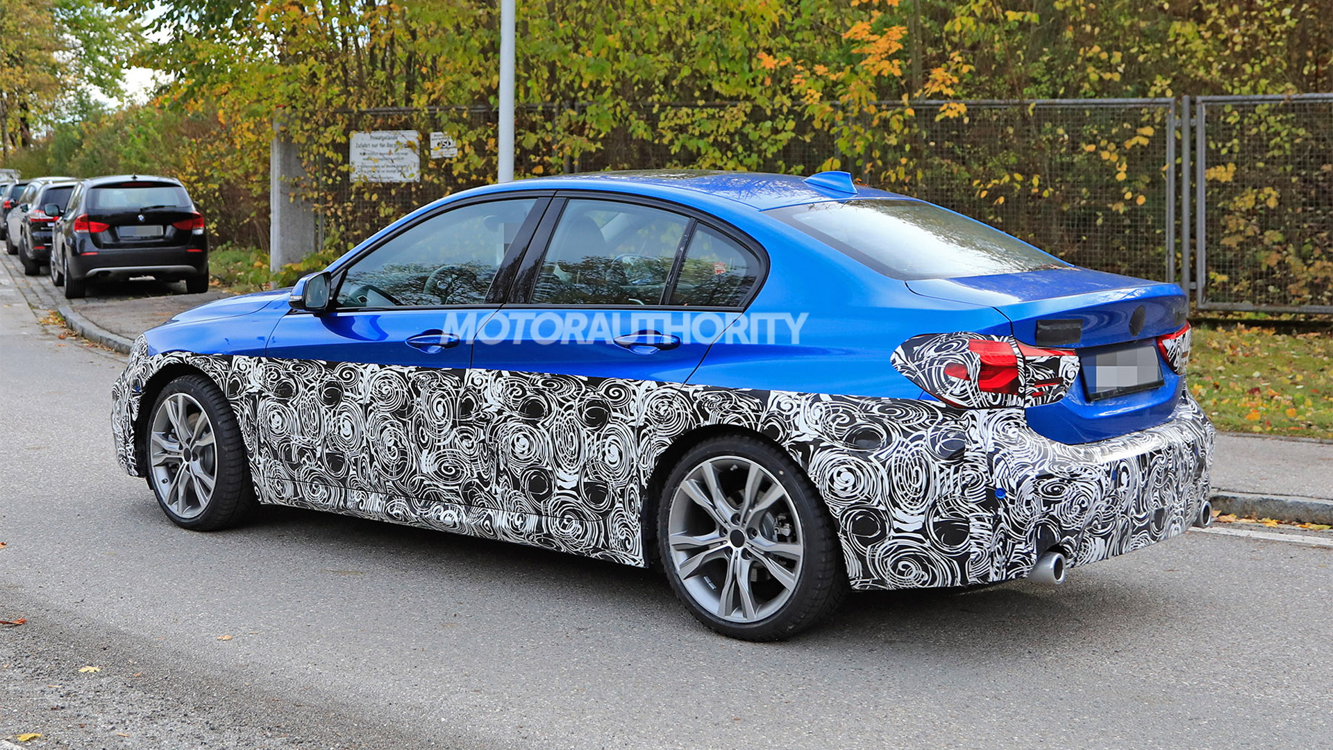 2020 BMW 1-Series facelift spy shots - Image via S. Baldauf/SB-Medien
