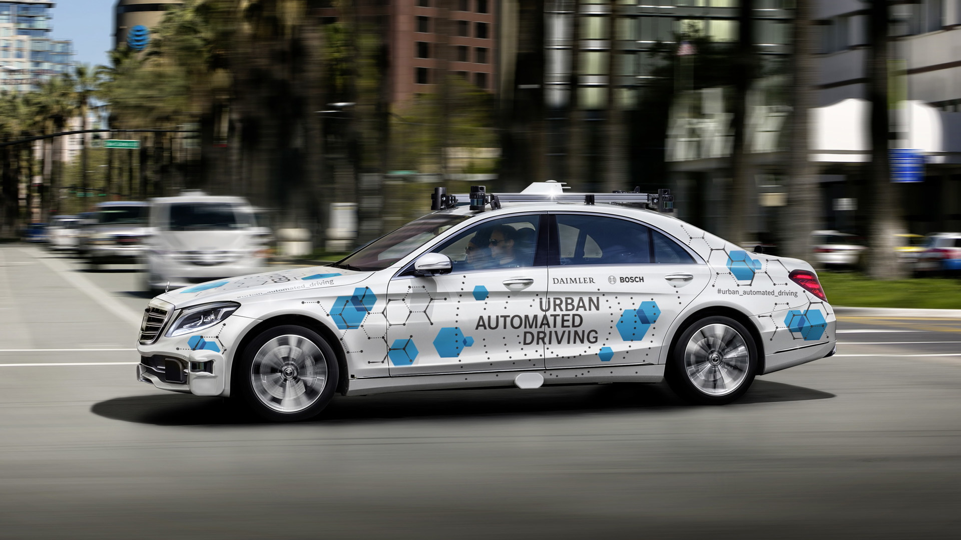 Daimler and Bosch self-driving car prototype