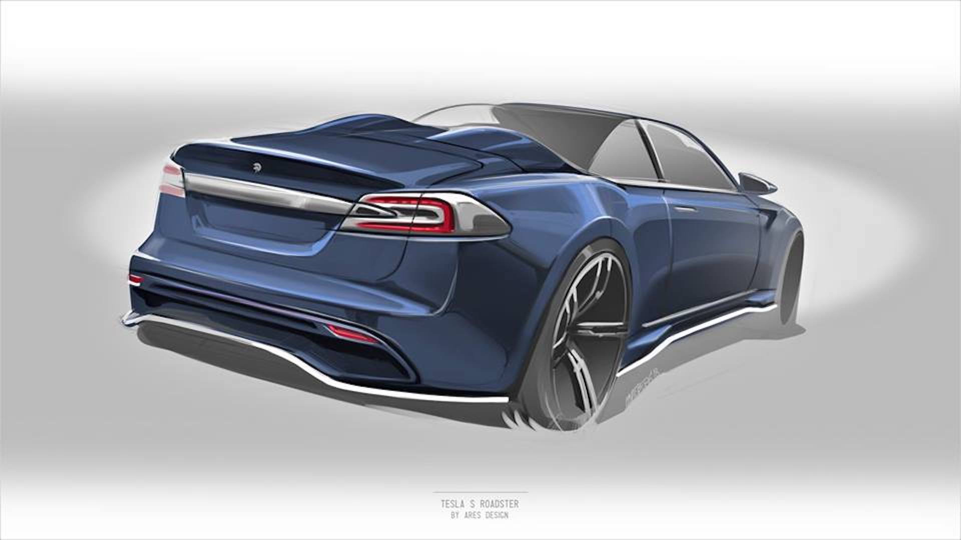 Ares Tesla Model S Roadster teaser sketch