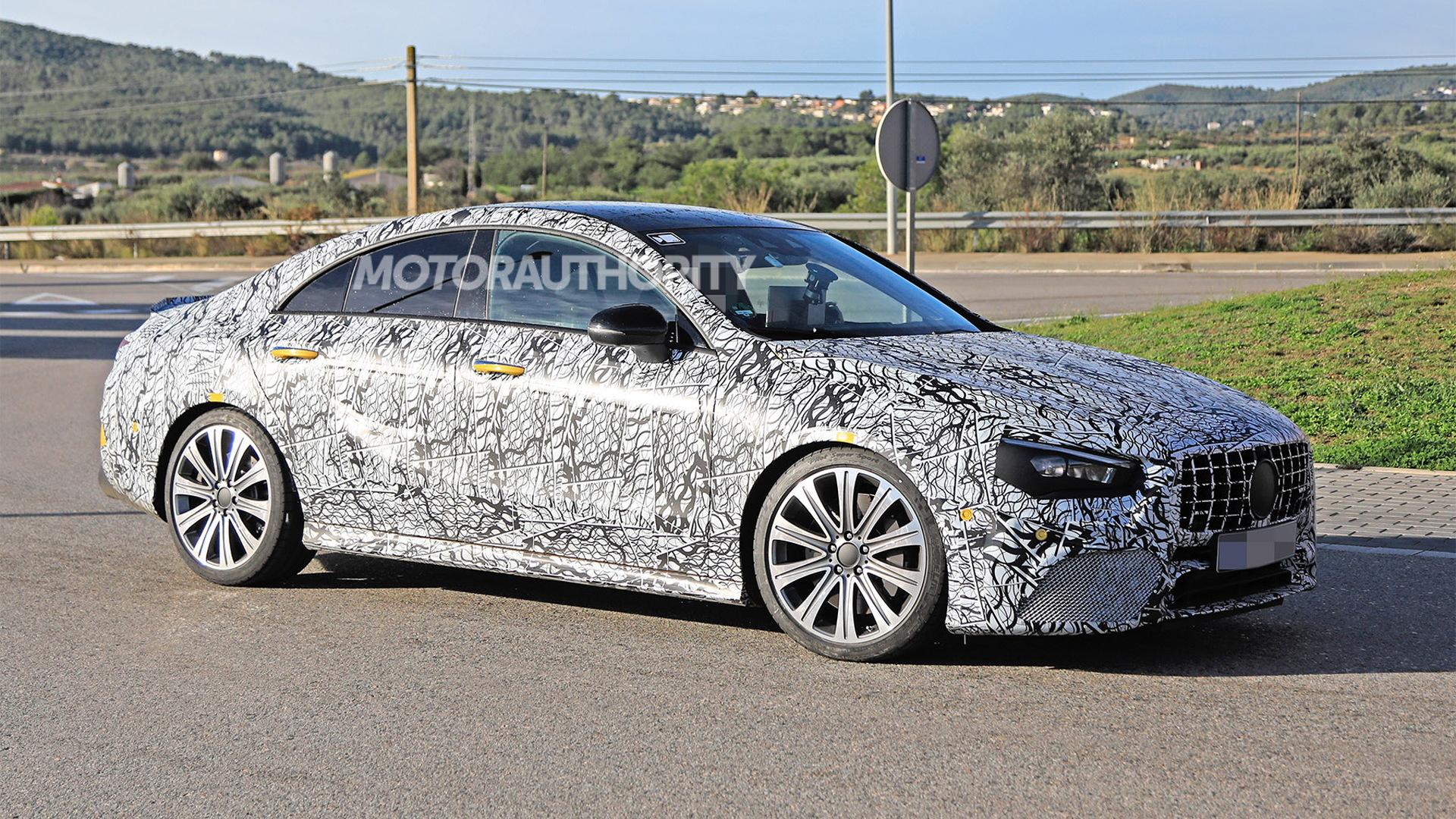 2020 Mercedes-AMG CLA45 spy shots - Image via S. Baldauf/SB-Medien