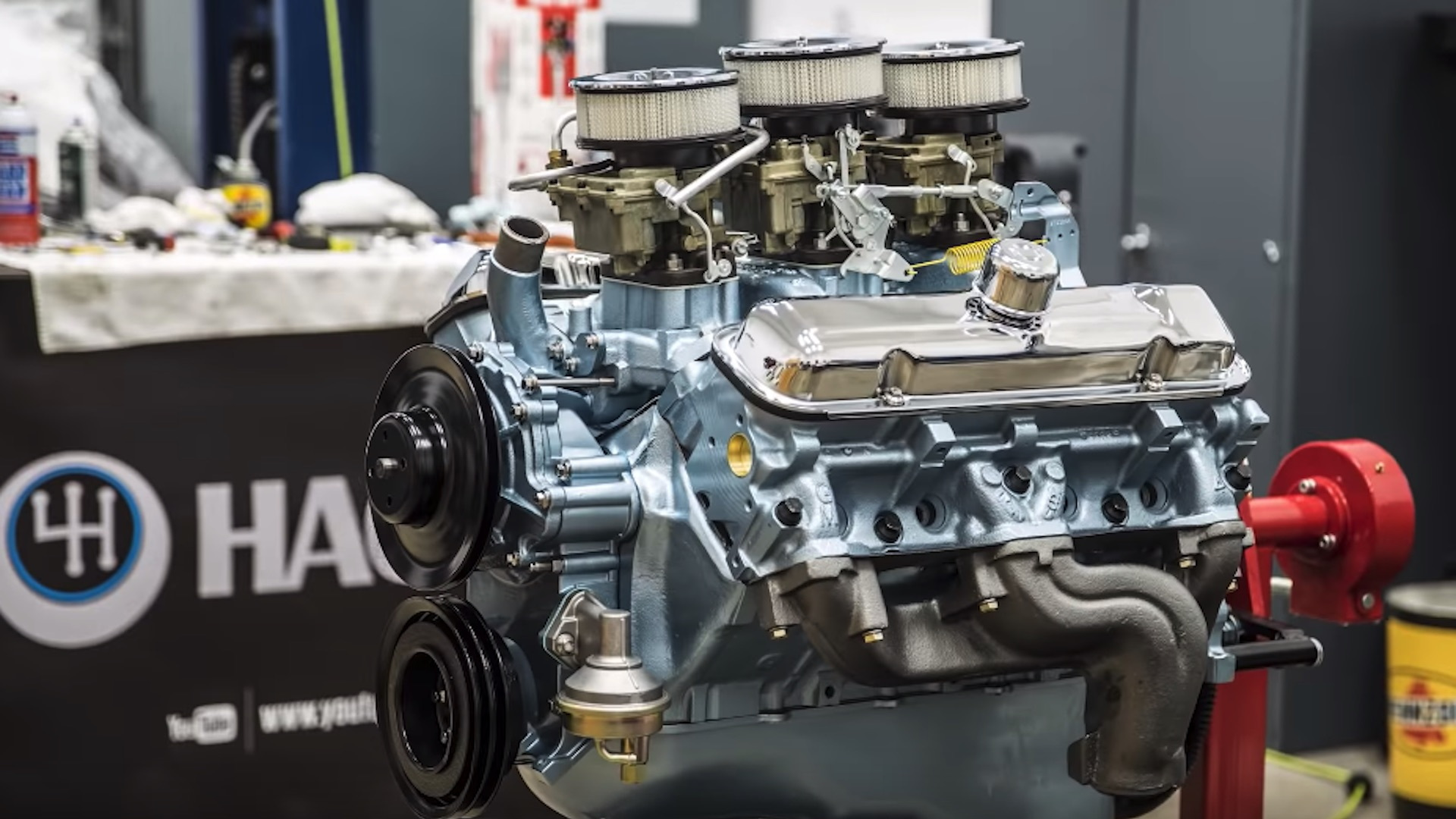 Hagerty rebuilds 389 ci Tri-Power Pontiac V-8 engine
