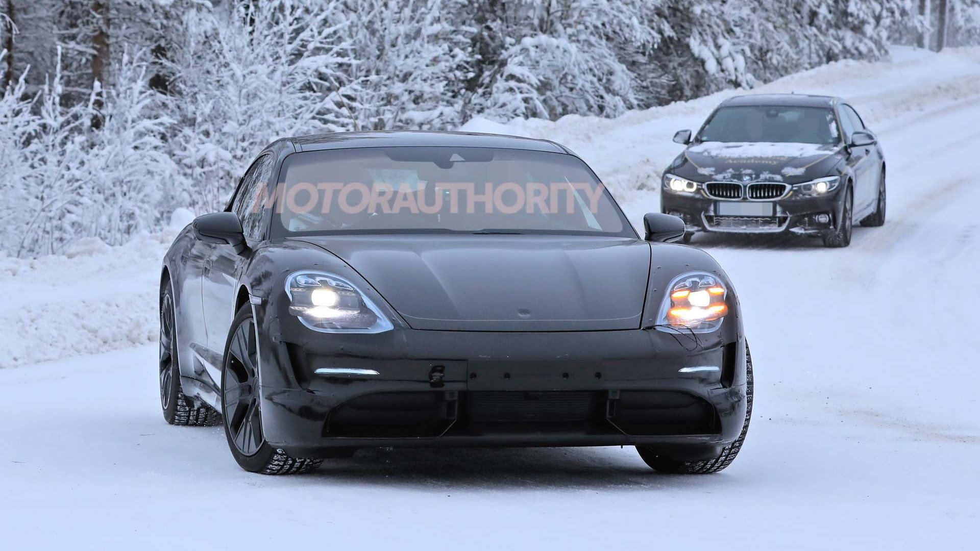 2020 Porsche Taycan Spy Shots And Video