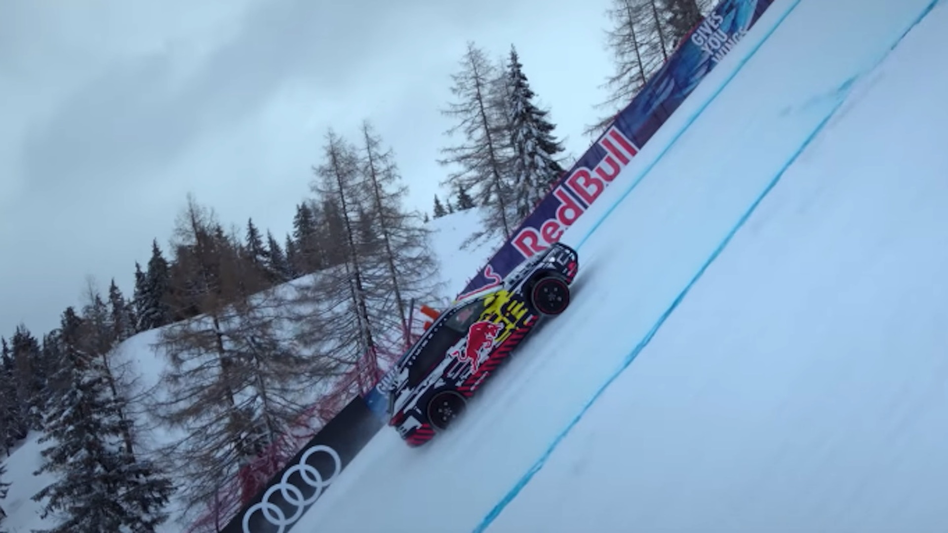 Audi e-tron ski slope ad