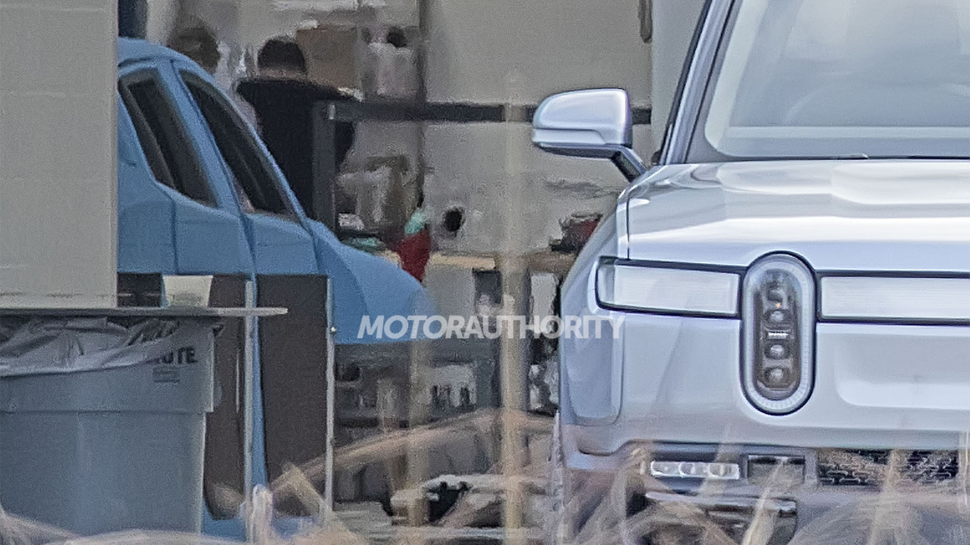 Mystery model spied at Rivian's headquarters in Plymouth, Michigan - Image via S. Baldauf/SB-Medien