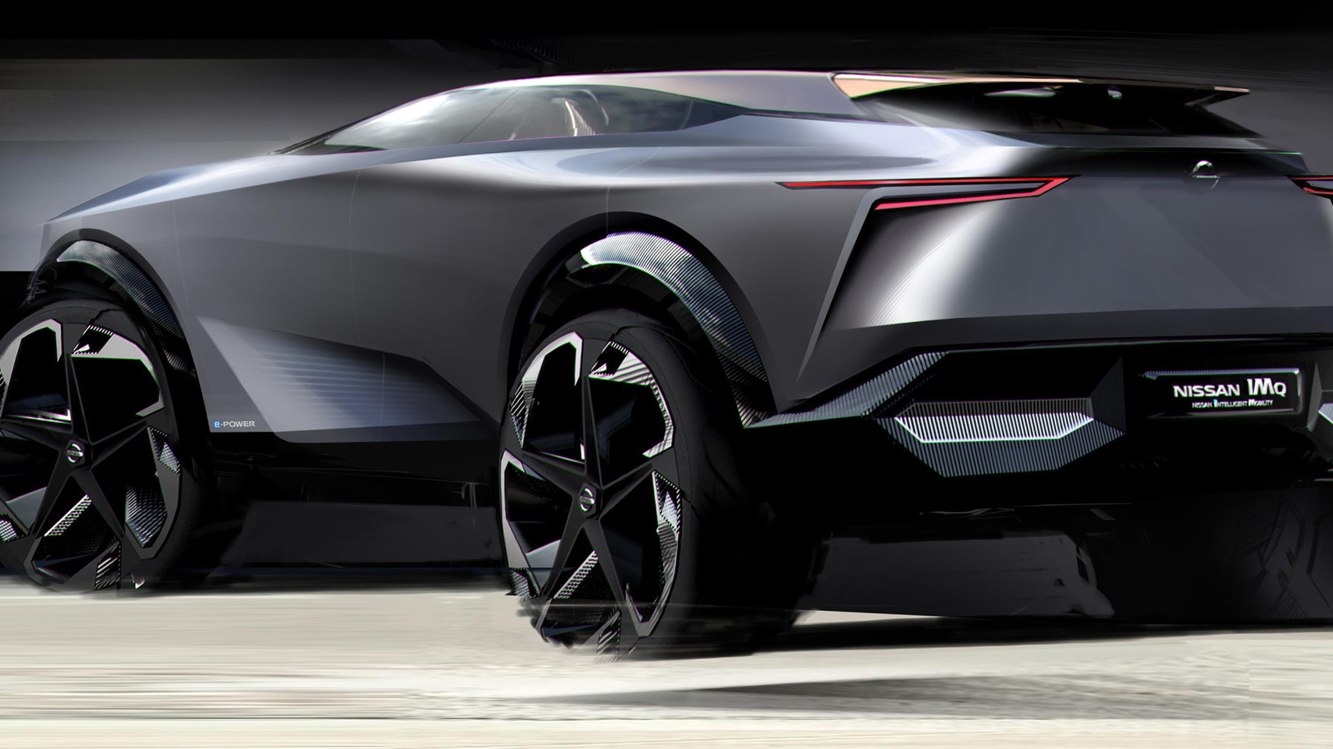 Teaser for Nissan IMQ concept debuting at 2019 Geneva auto show