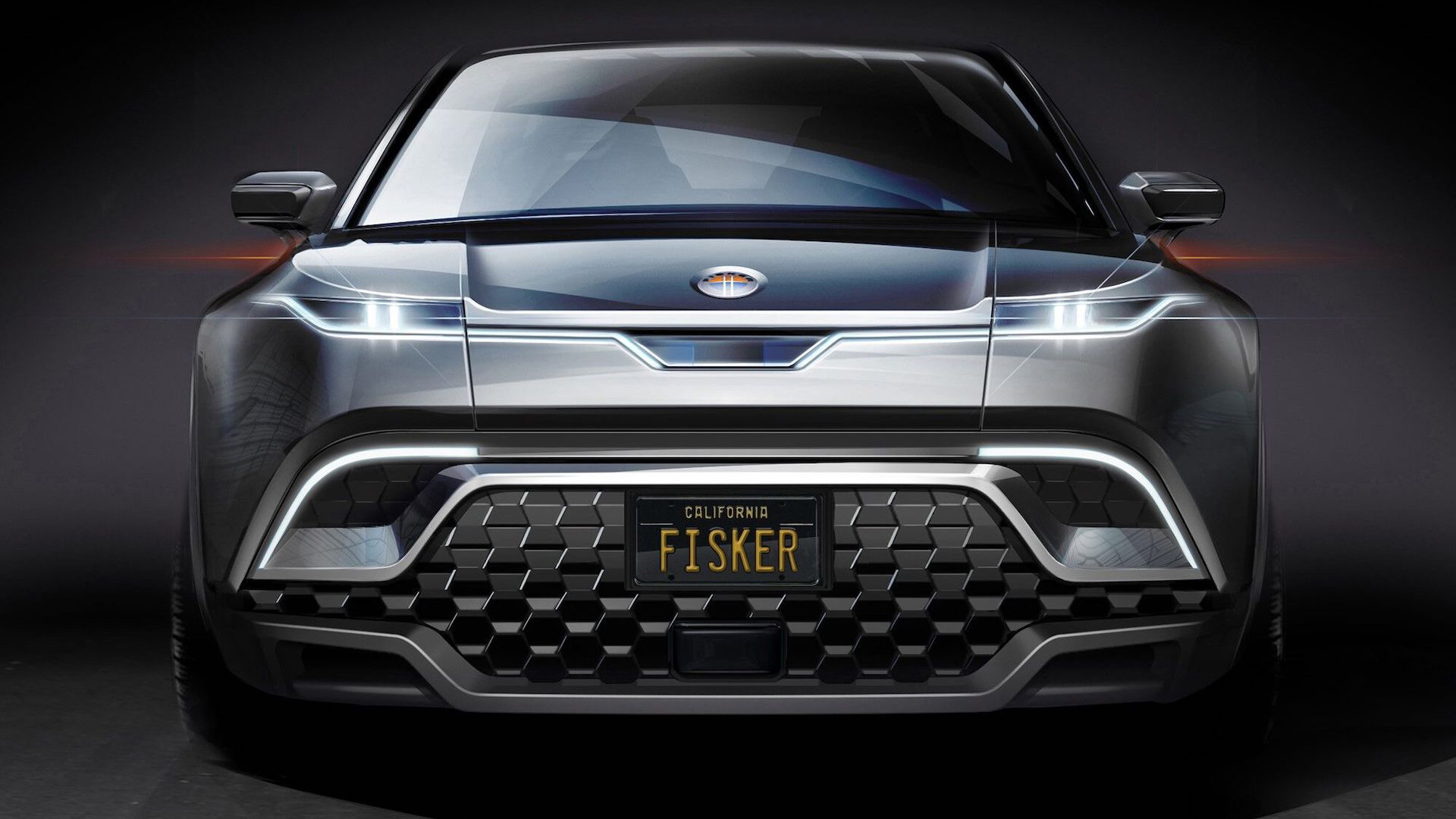 Teaser for Fisker Ocean electric SUV