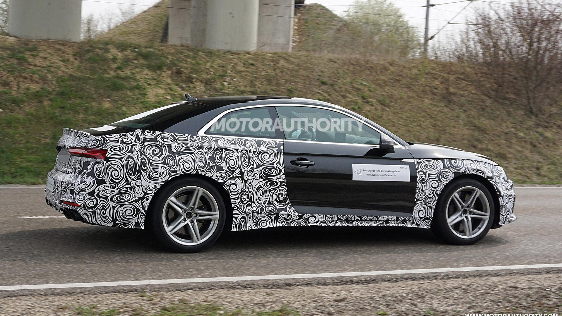2021 Audi S5 facelift spy shots - Image via S. Baldauf/SB-Medien