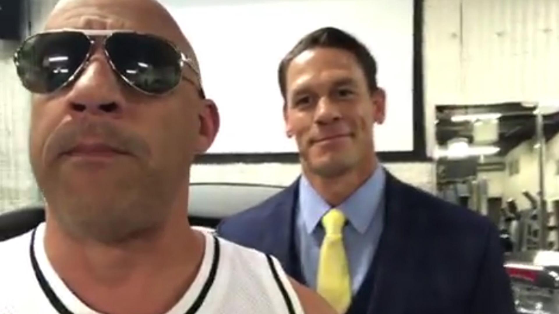 Vin Diesel (left) and John Cena