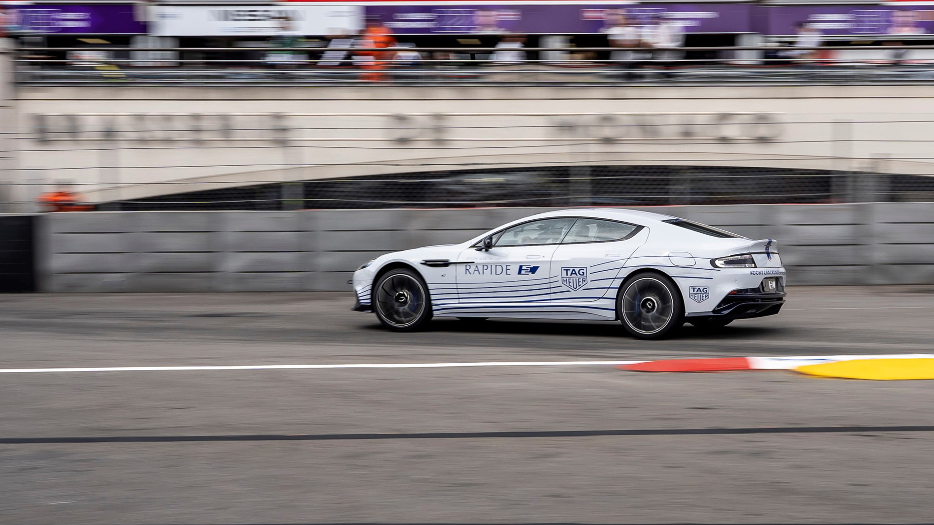2020 Aston Martin Rapide E at the 2018/2019 Formula E Monaco ePrix