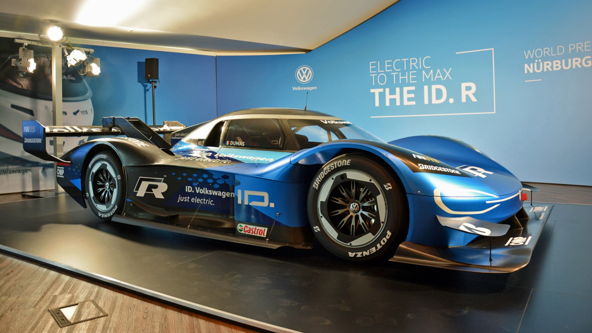 A Closer Look At The VW ID R Electric Race Car's Charging
