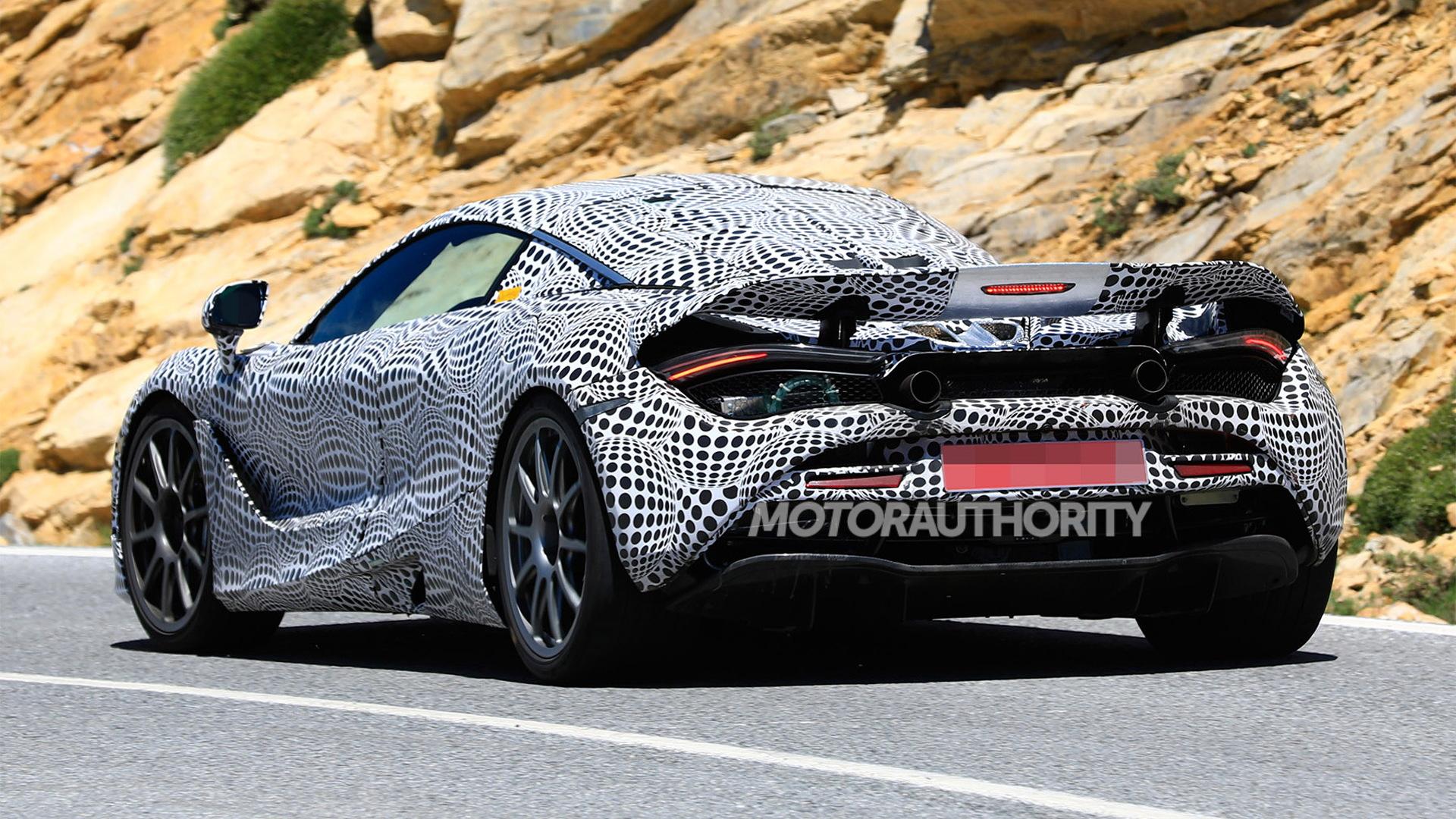 McLaren hybrid test mule spy shots - Image via S. Baldauf/SB-Medien