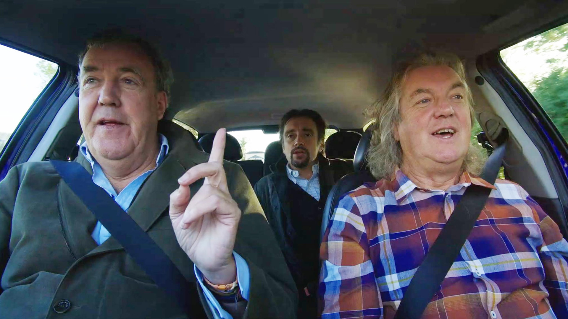 "Scene from ""The Grand Tour"" featuring Jeremy Clarkson, Richard Hammond and James May"