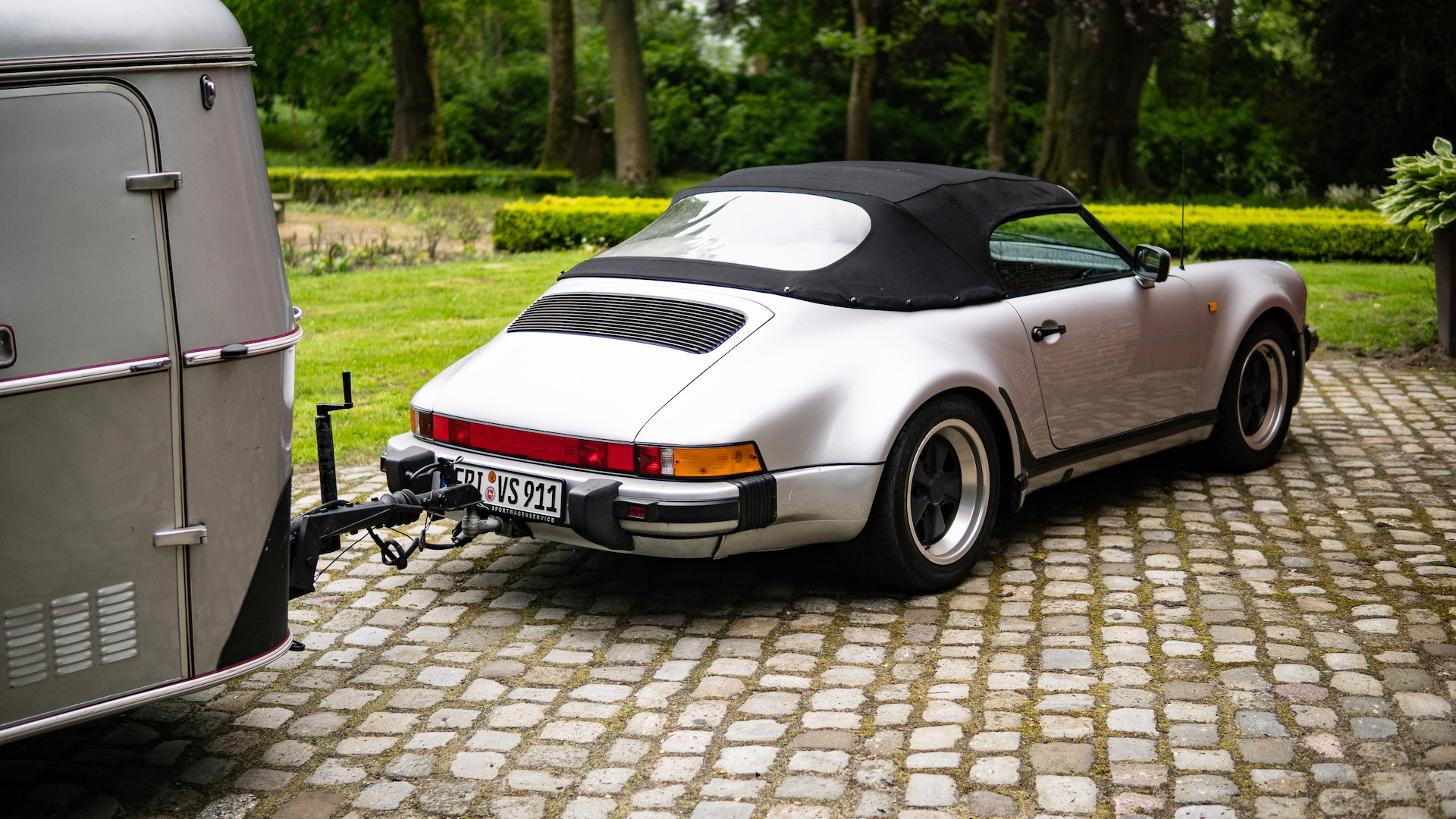 1989 Porsche 911 Speedster with matching camper