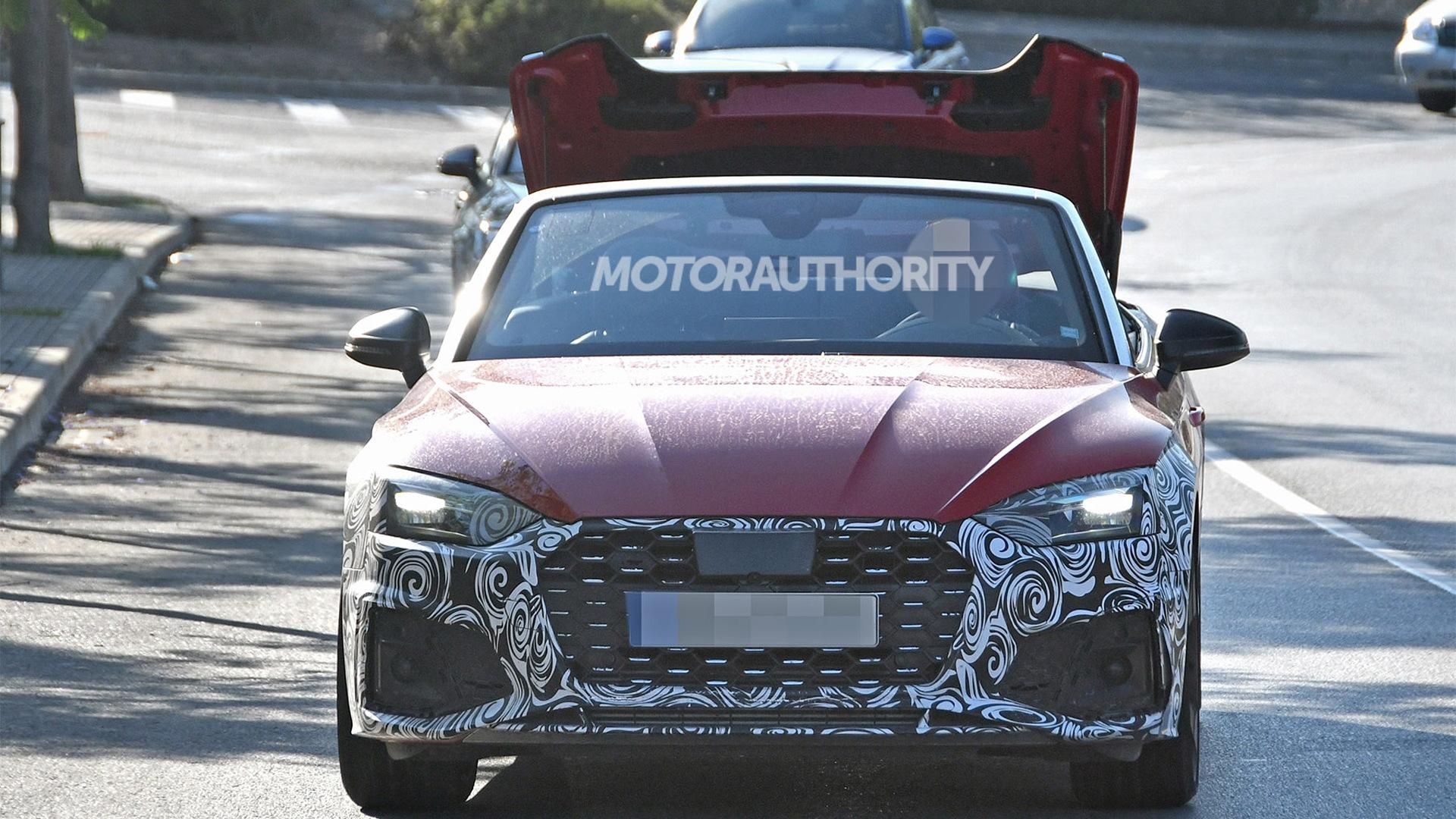 2021 Audi S5 Cabriolet facelift spy shots - Image via S. Baldauf/SB-Medien