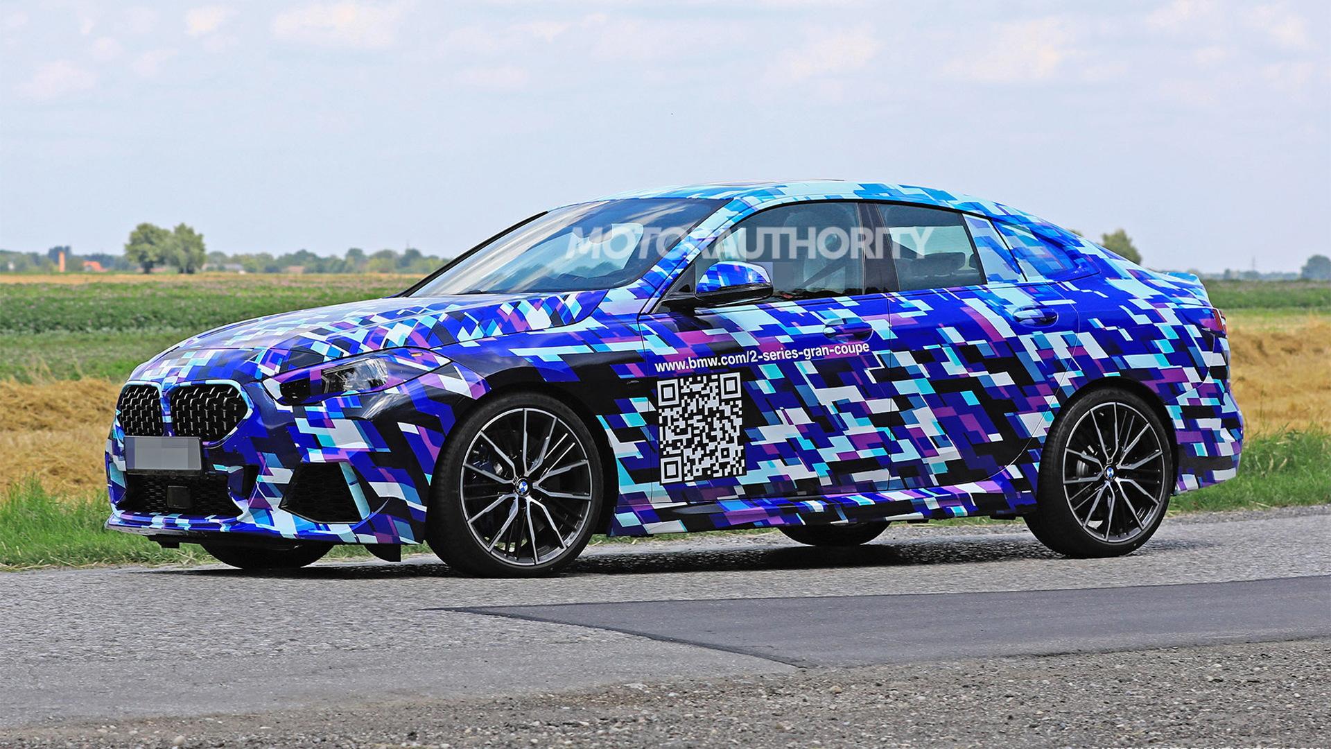 2021 BMW 2-Series Gran Coupe spy shots - Image via S. Baldauf/SB-Medien