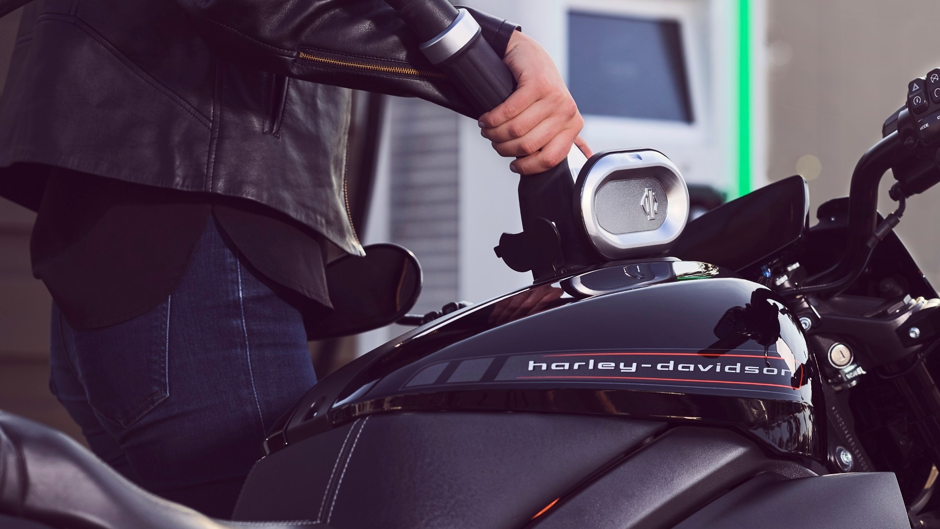 Harley-Davidson LiveWire charging at Electrify America charging station