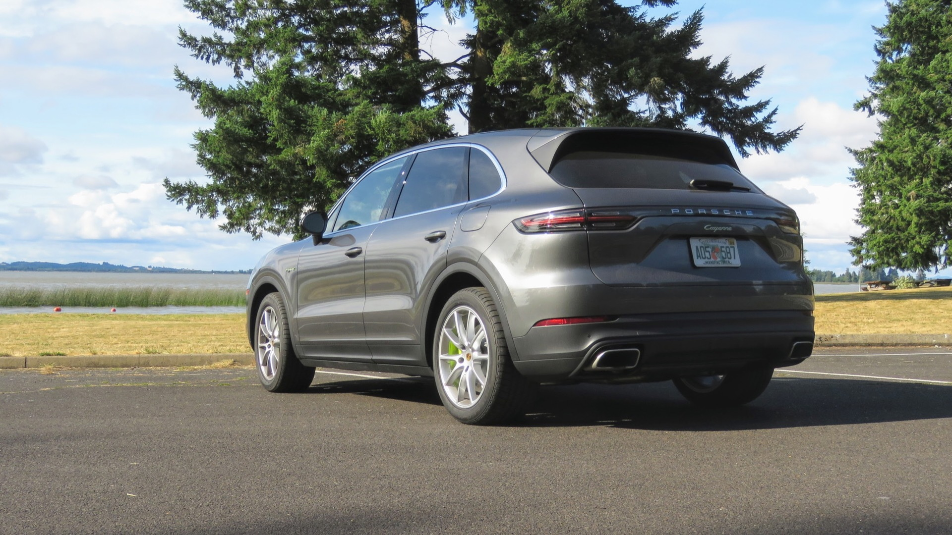 2019 Porsche Cayenne E-Hybrid first drive  -  Oregon, July 2019