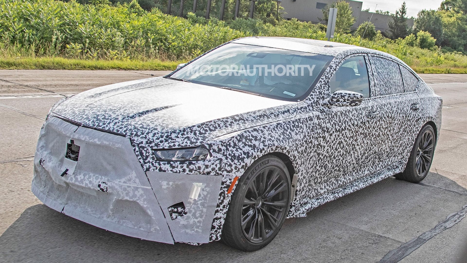 2020 Cadillac CT5-V Blackwing spy shots - Image via S. Baldauf/SB-Medien