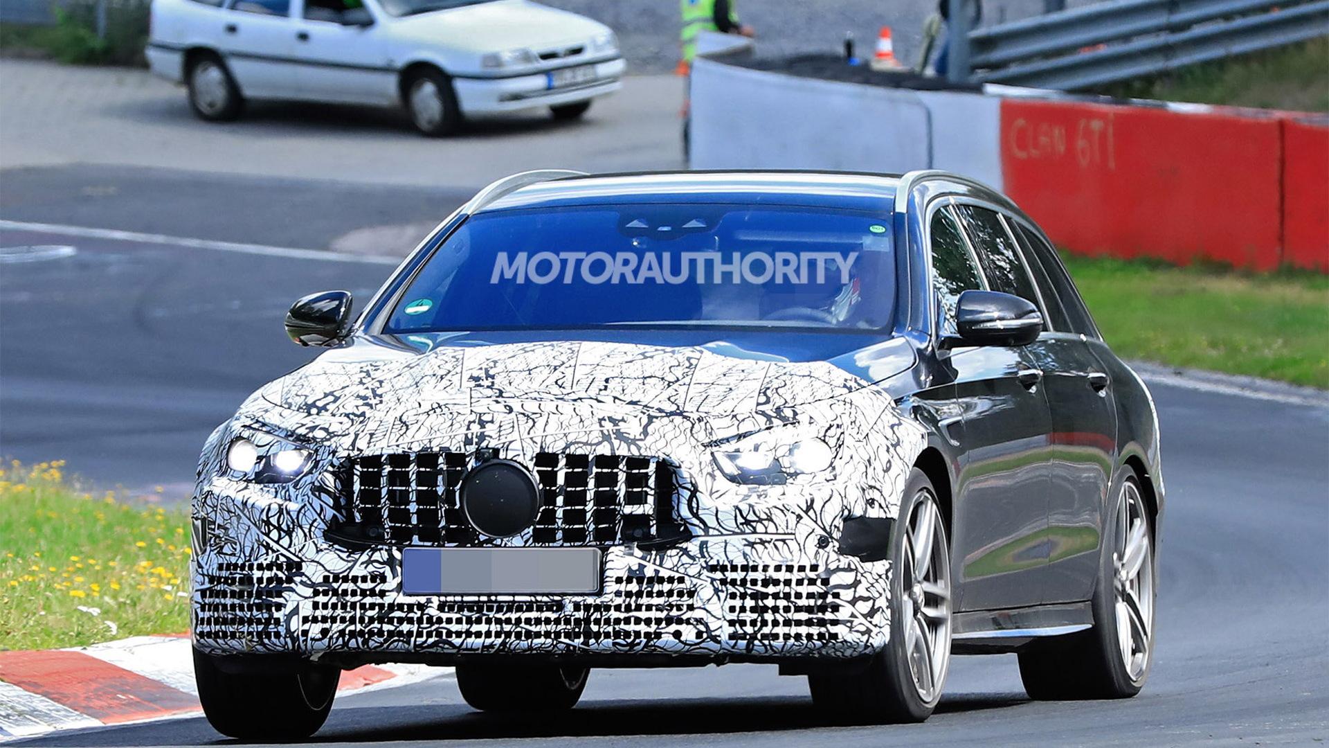 2021 Mercedes-AMG E63 Wagon facelift spy shots - Photo credit: S. Baldauf/SB-Medien