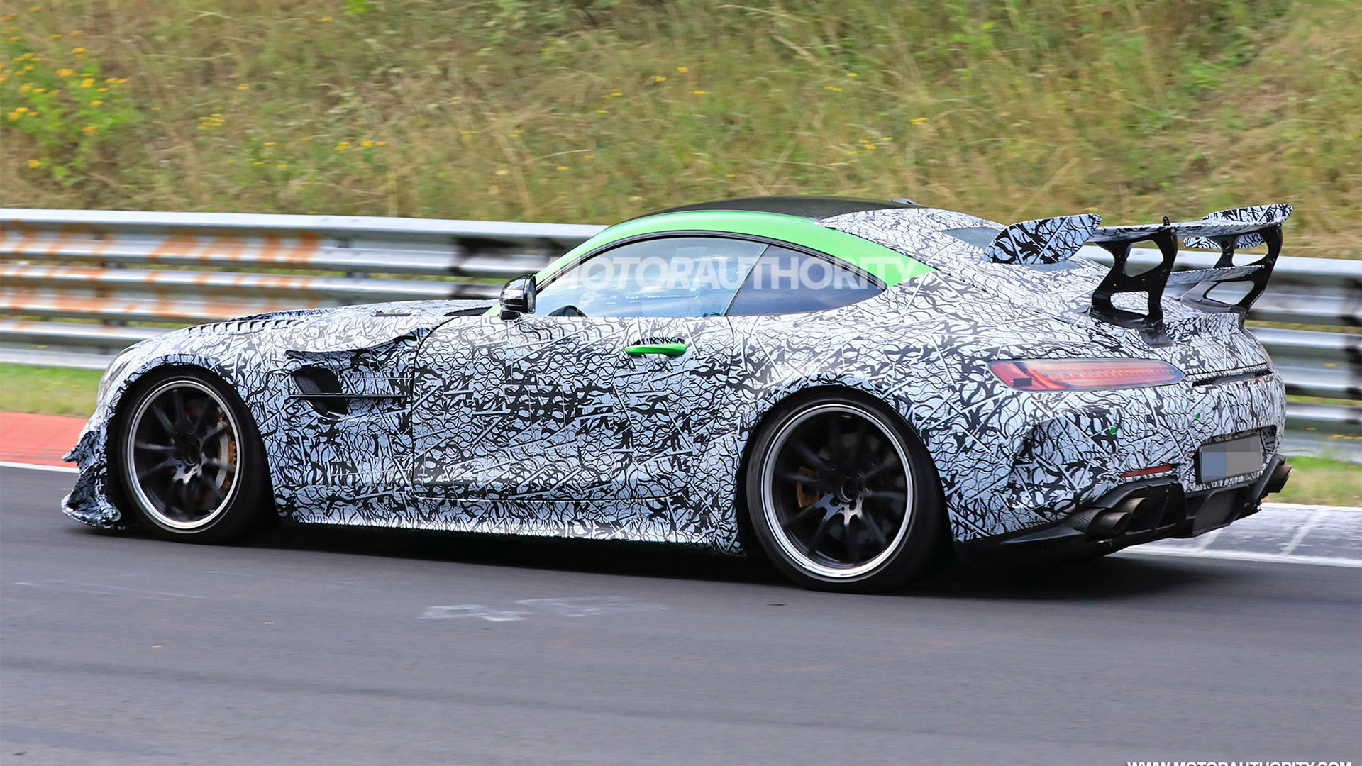 2021 Mercedes-AMG GT Black Series spy shots - Photo credit: S. Baldauf/SB-Medien