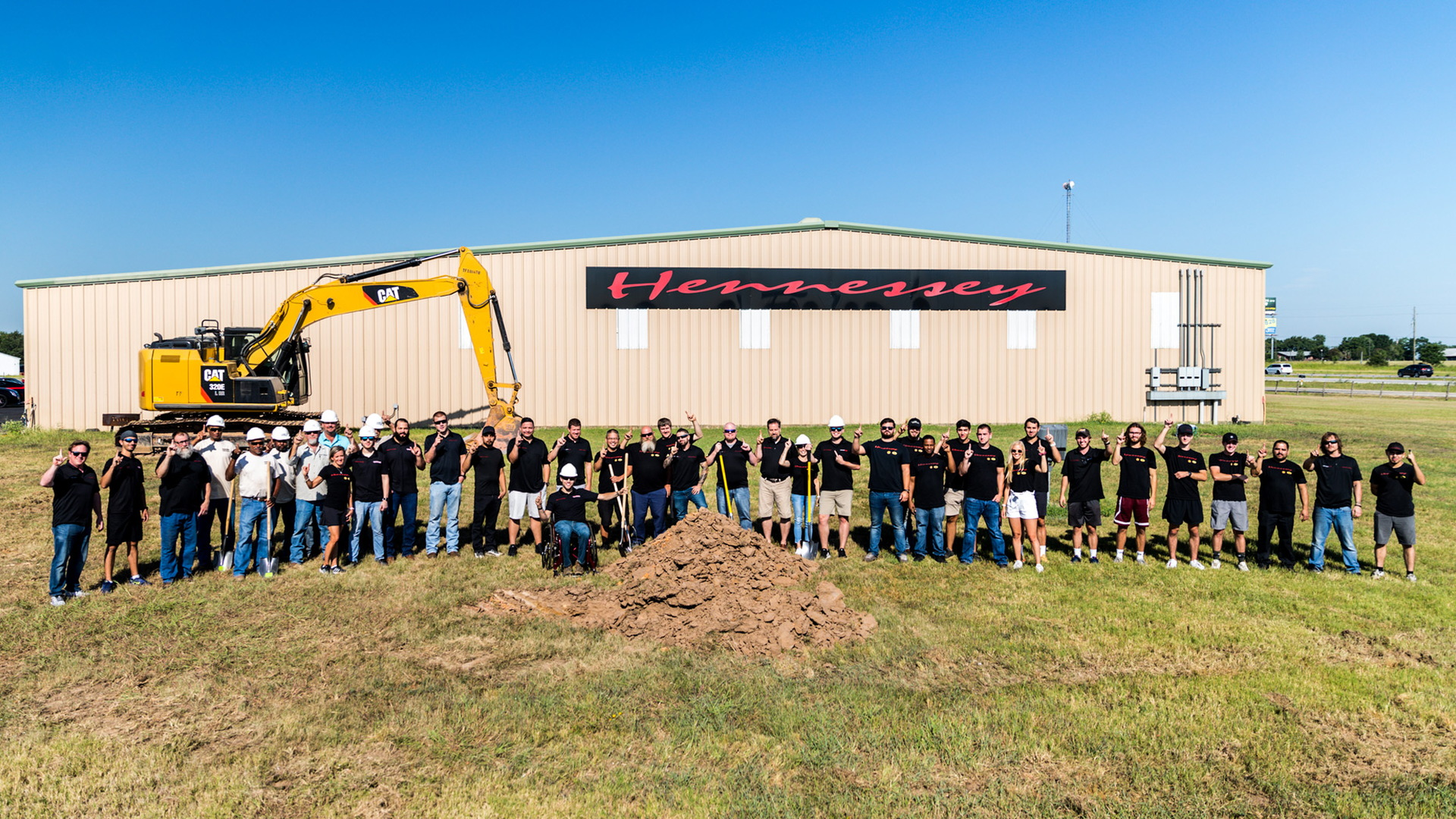 Groundbreaking for expansion of HennesseyPerformance Engineering factory in Sealy, Texas
