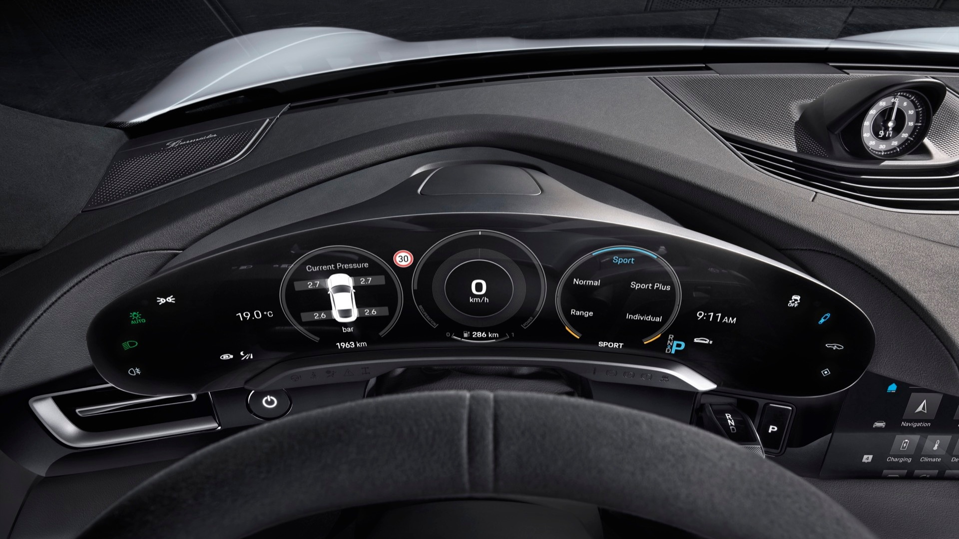 Porsche Taycan Electric Car Interior Revealed Five Screens But Driver Focused