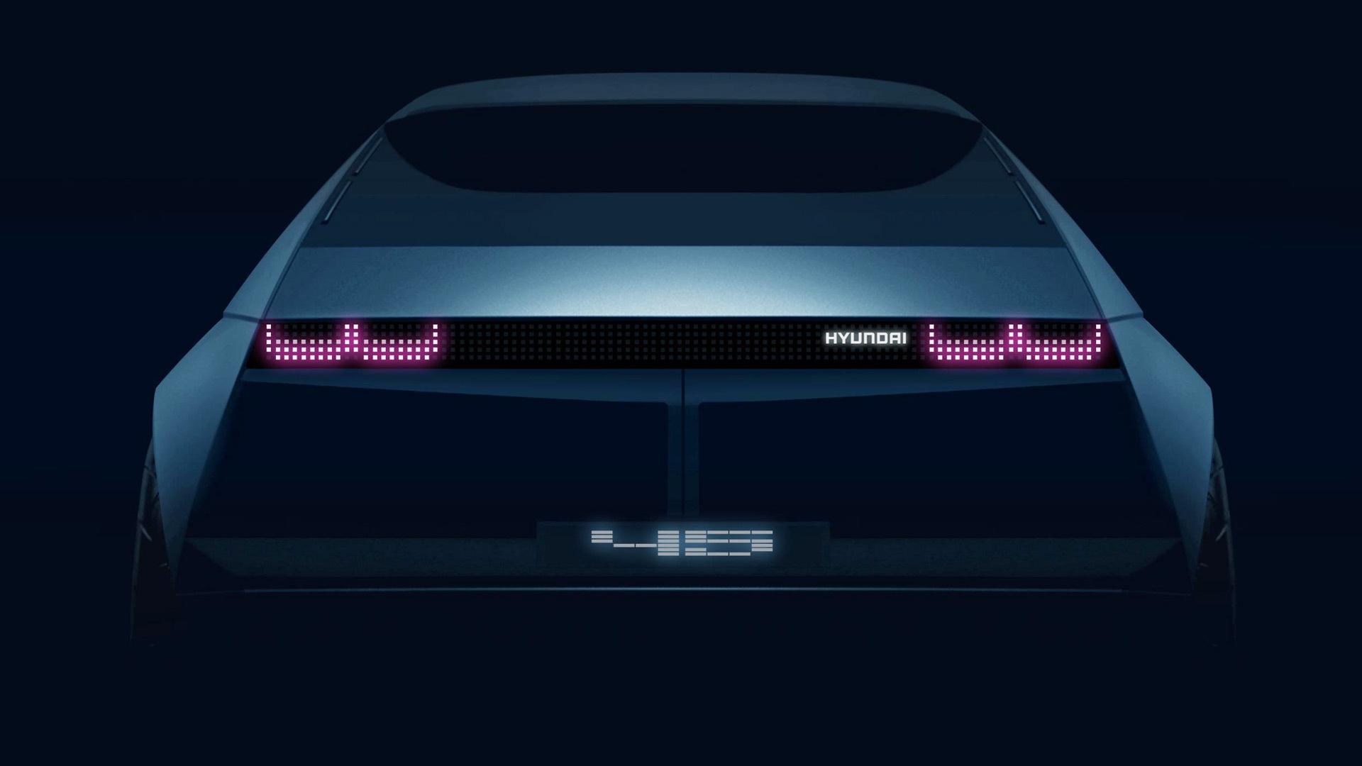 Teaser for Hyundai 45 concept debuting at 2019 Frankfurt auto show