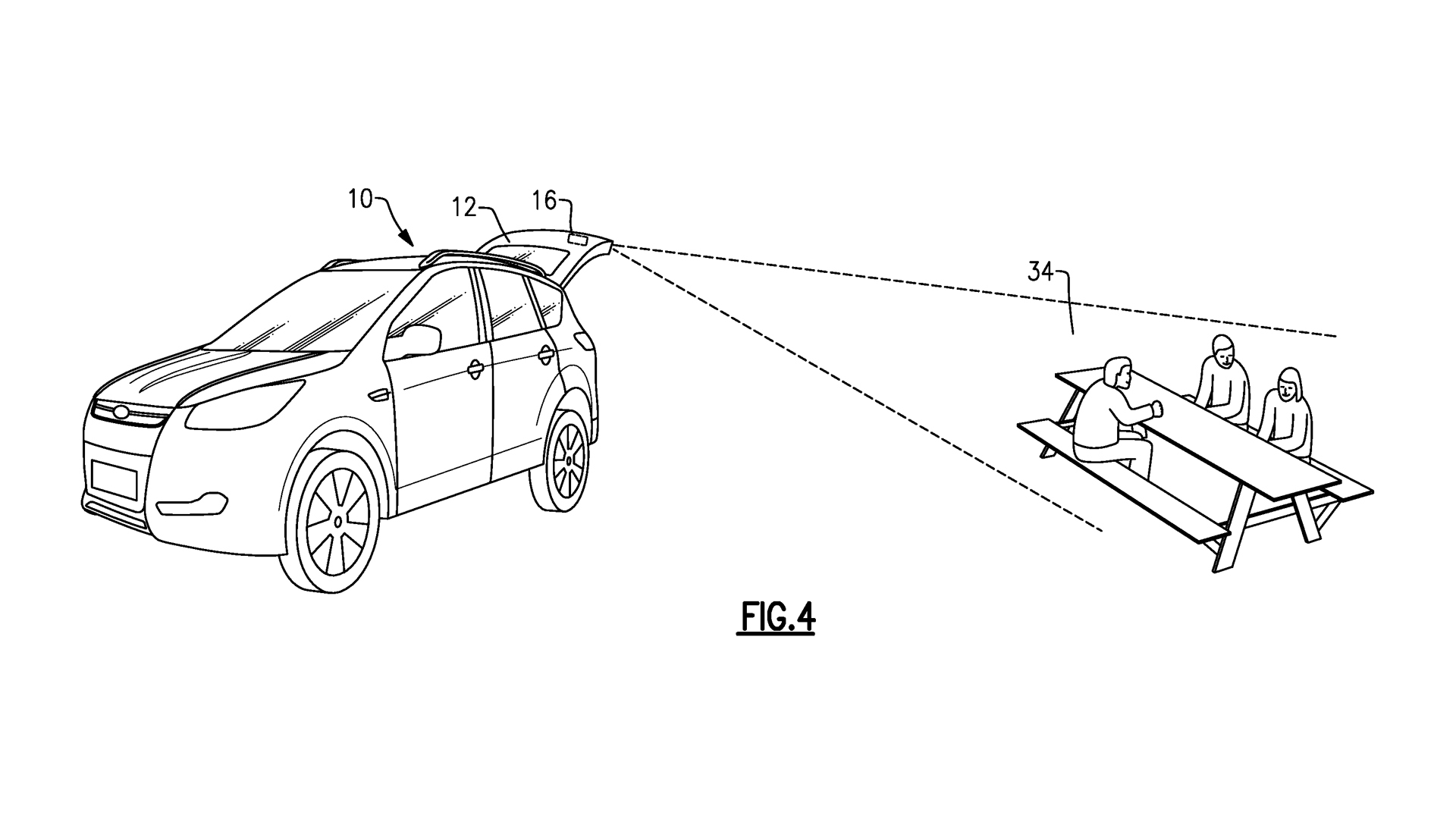 Ford liftgate projector patent