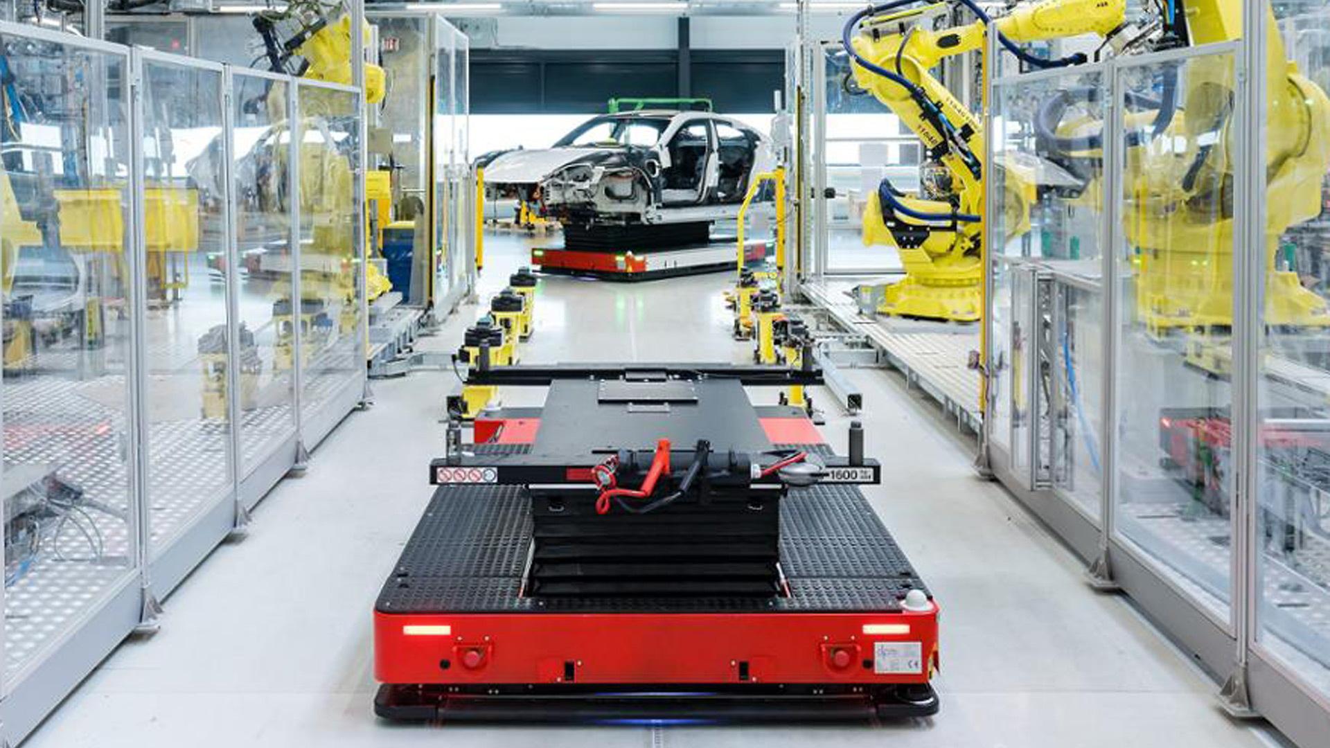 Porsche Taycan production in Zuffenhausen, Germany