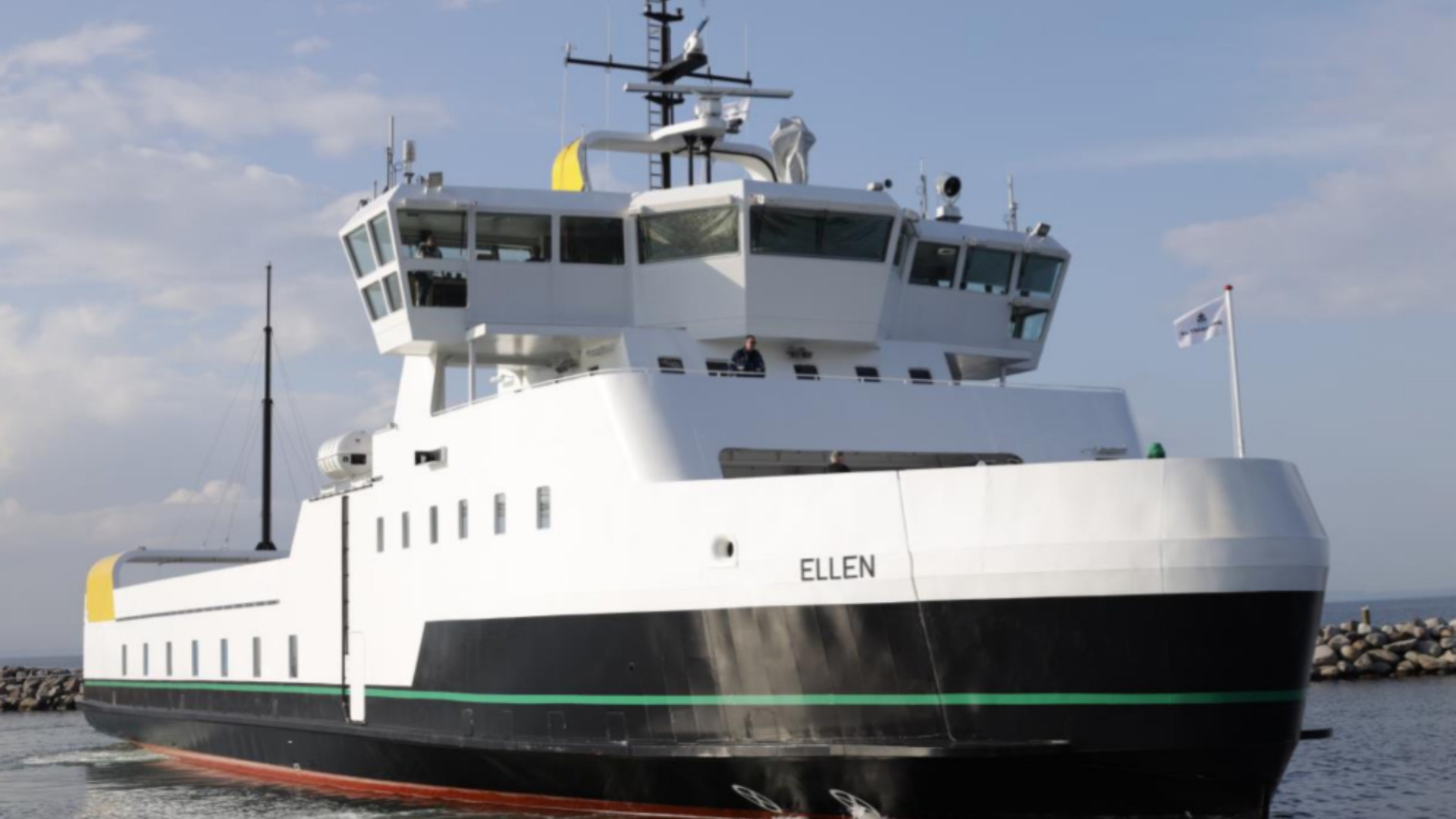 All-electric passenger and car ferry, in Denmark