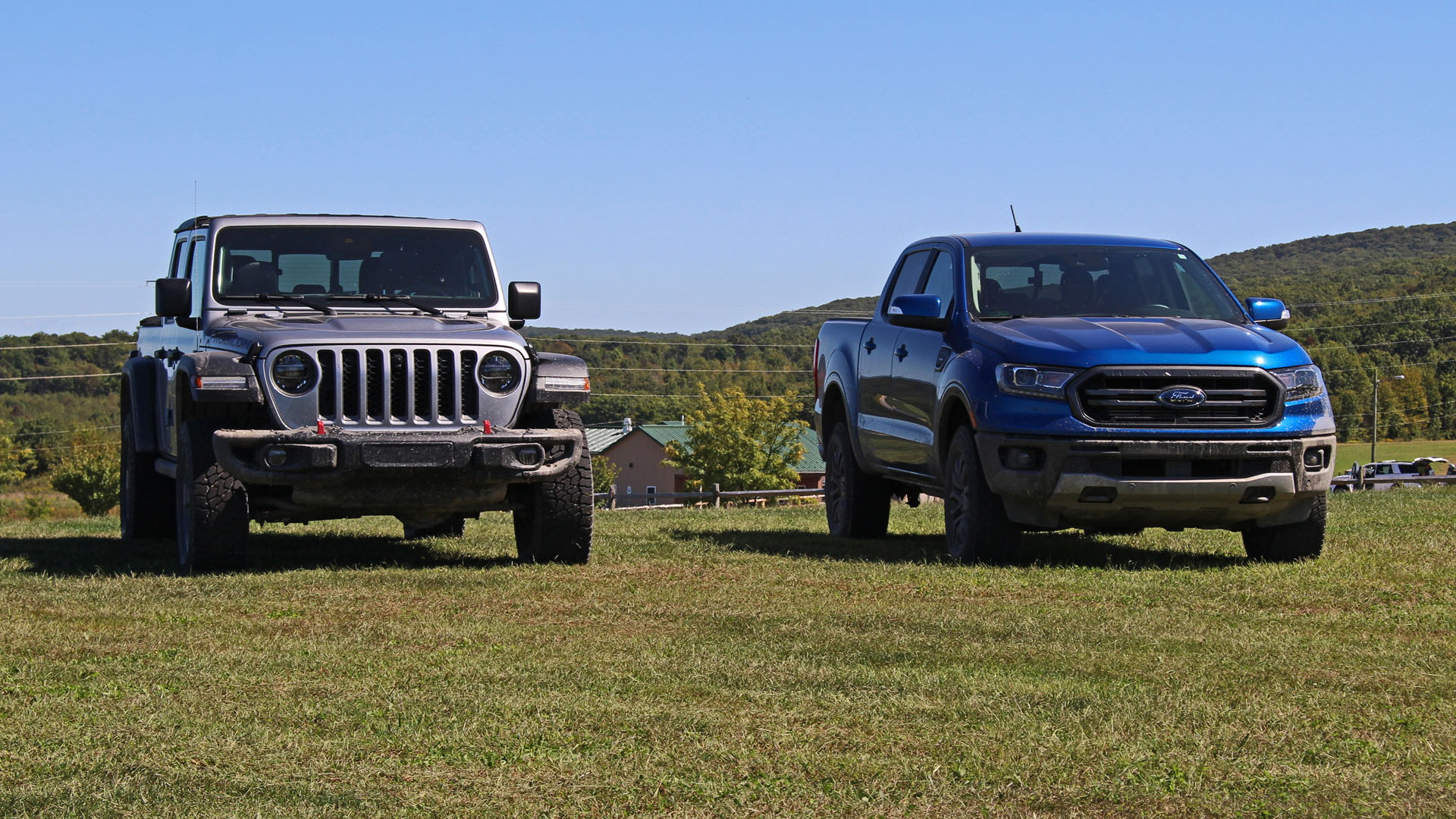 Jeep Gladiator Rubicon and Ford Ranger FX4
