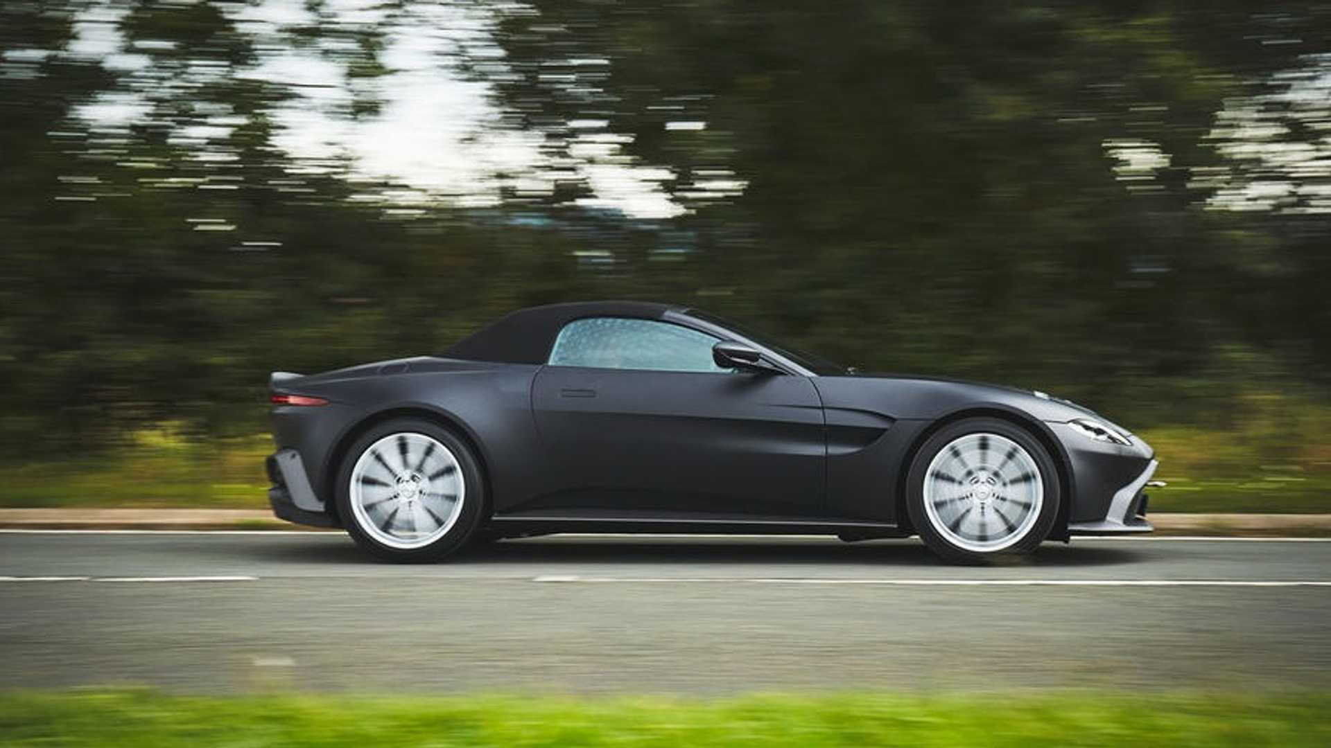 Teaser for 2020 Aston Martin Vantage Roadster