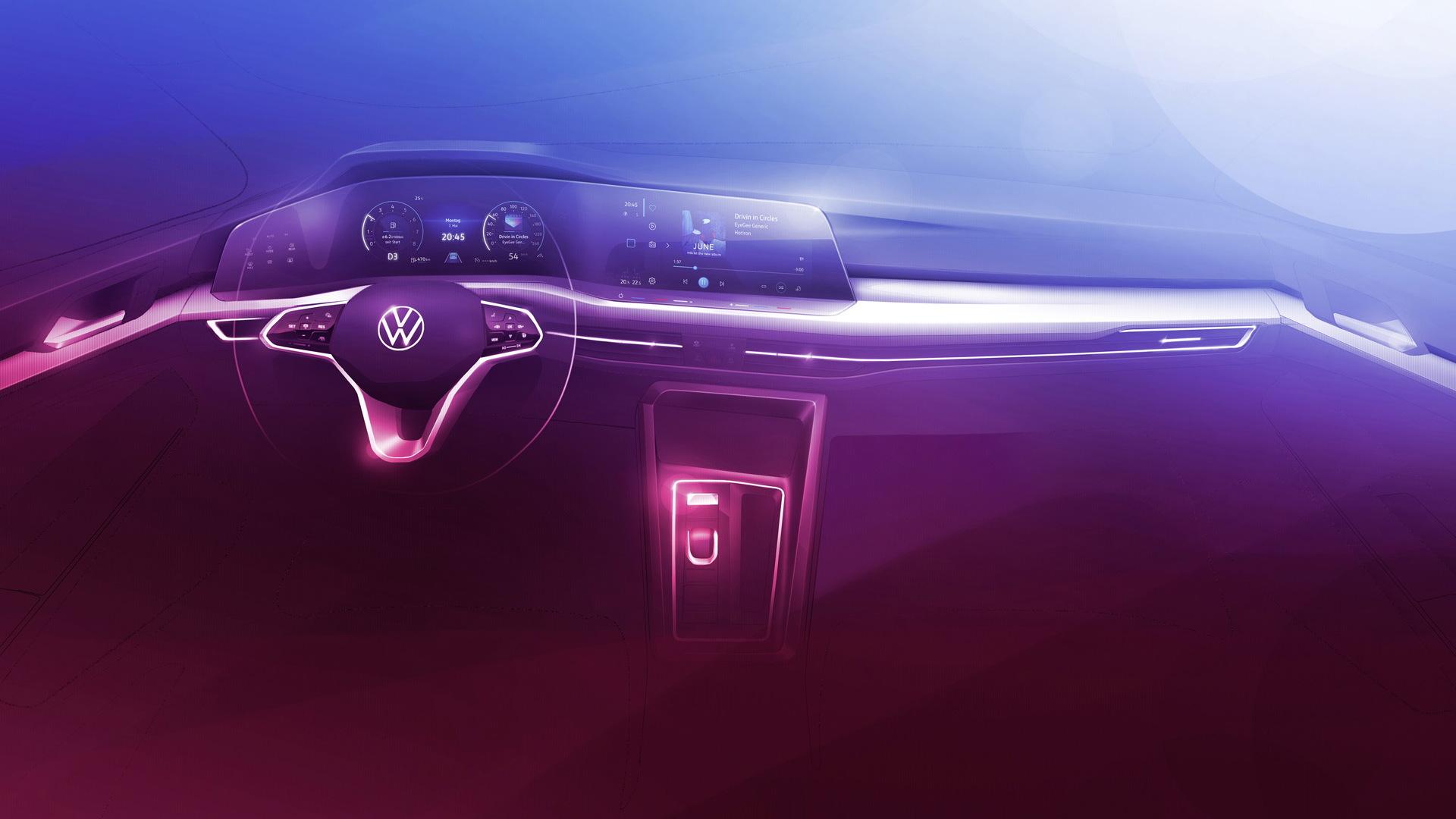 Teaser for new Volkswagen Golf debuting on October 24, 2019