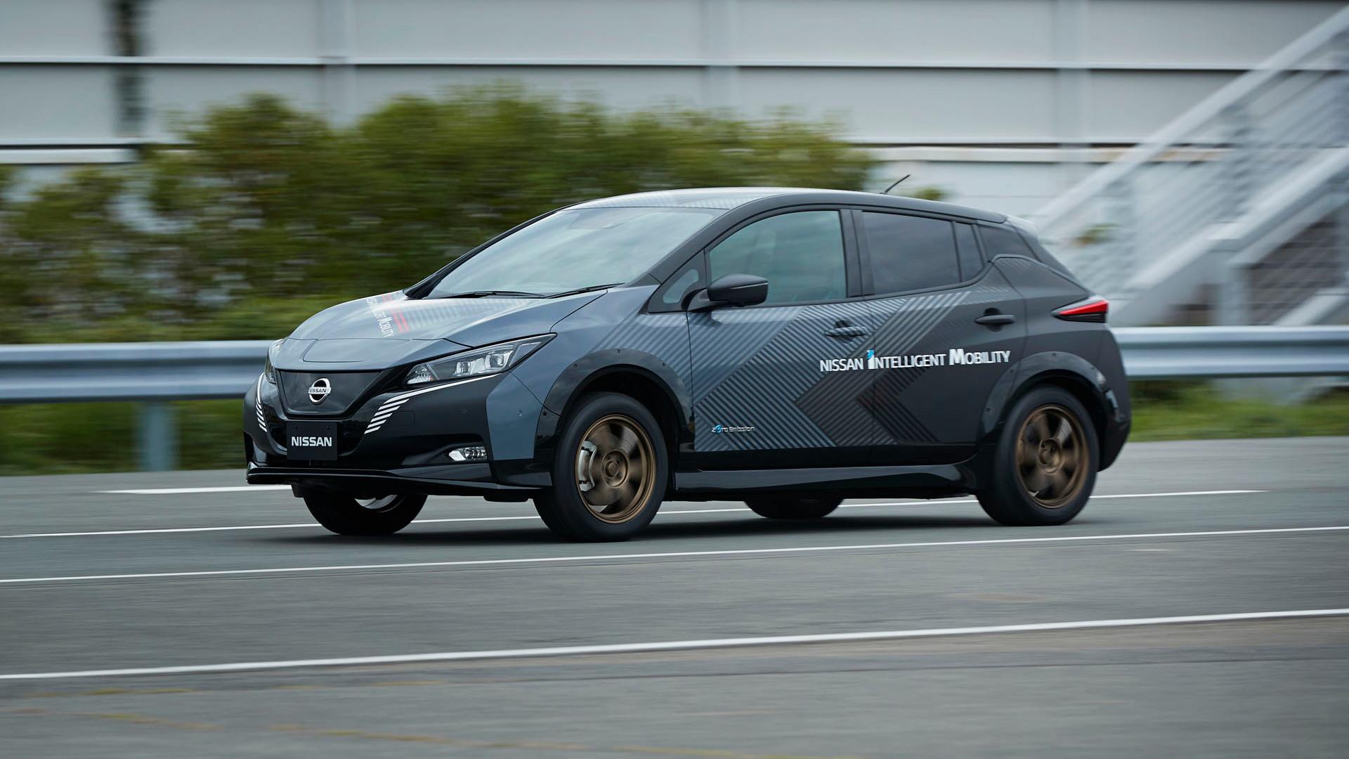 Nissan Leaf+ twin motor prototype
