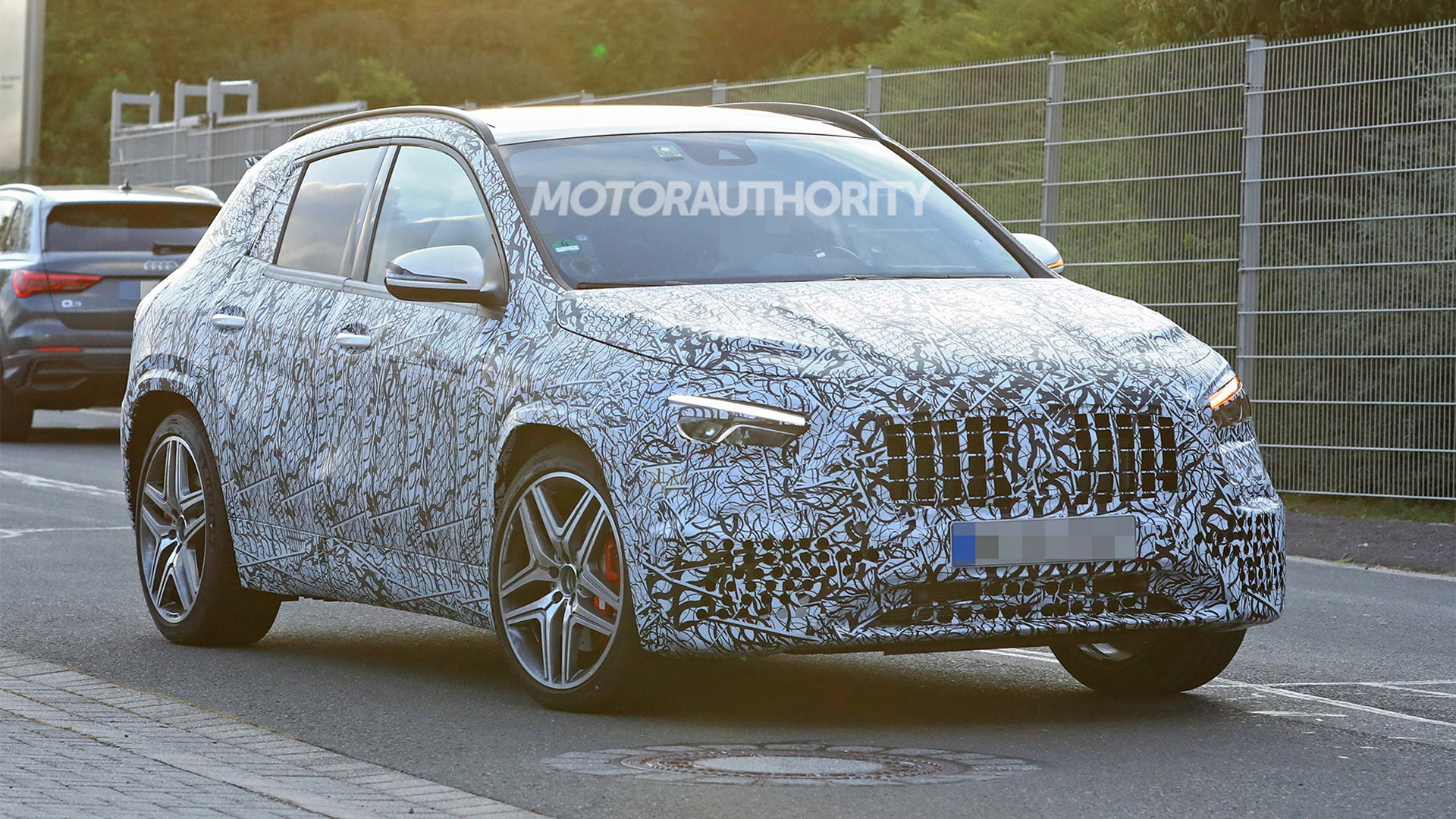 2021 Mercedes-AMG GLA45 spy shots - Photo credit: S. Baldauf/SB-Medien