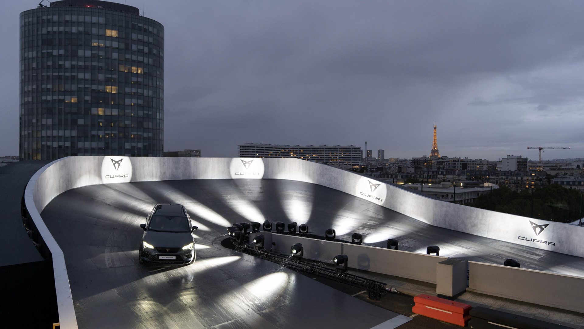 Cupra's rooftop racetrack in the heart of Paris