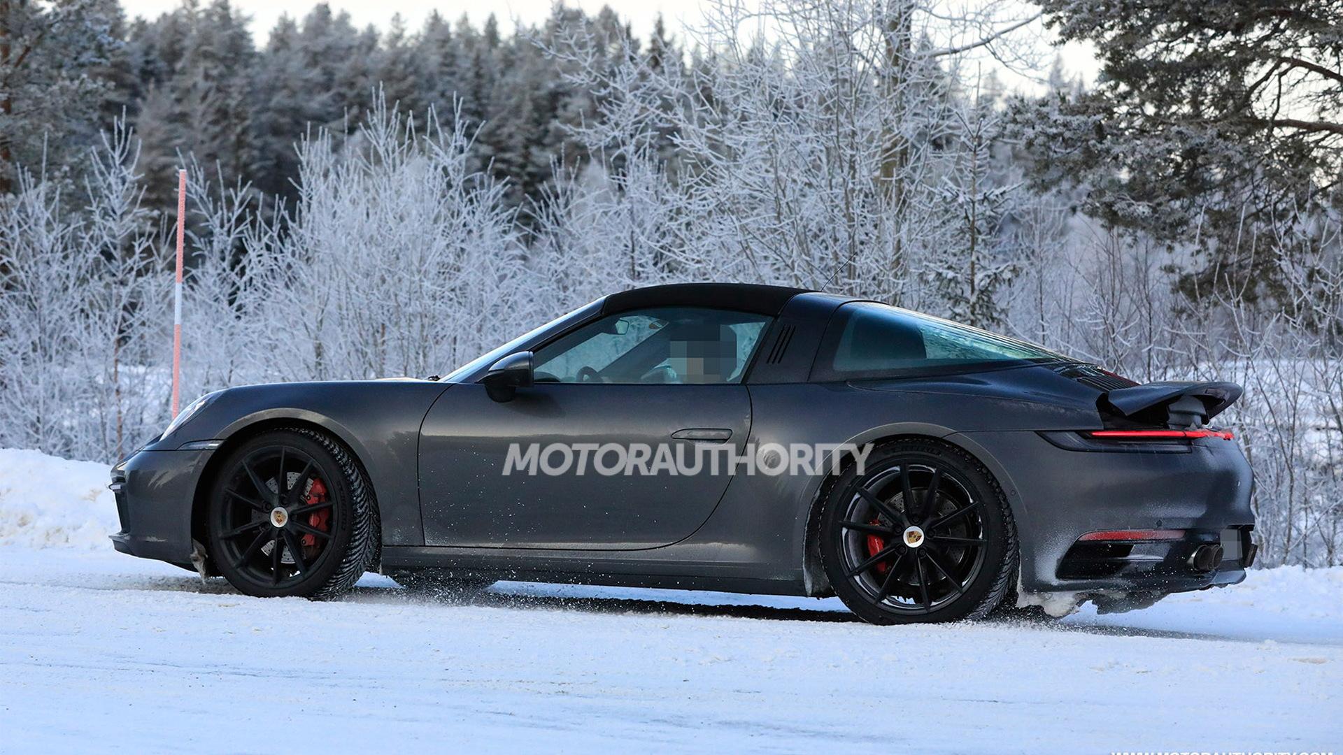 2021 Porsche 911 Targa spy shots - Photo credit: S. Baldauf/SB-Medien