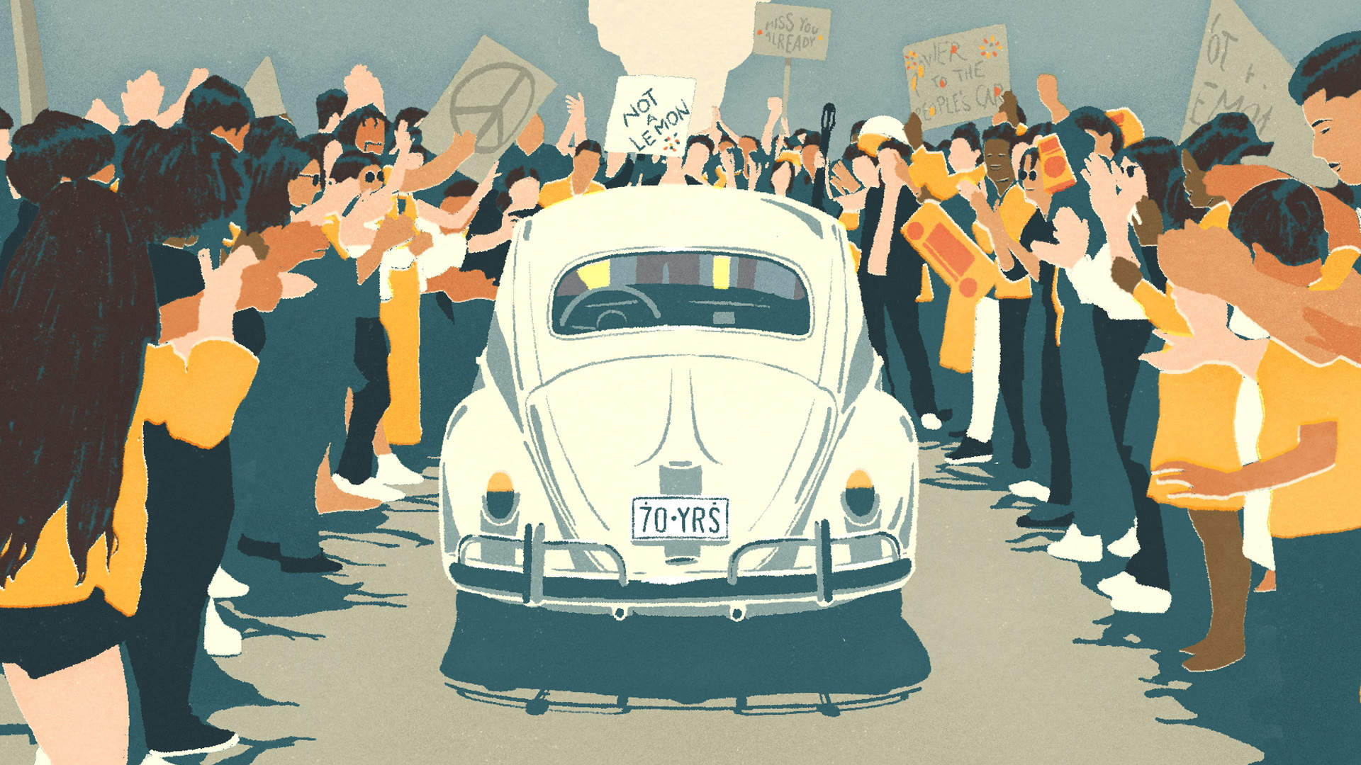 """Scene from Volkswagen Beetle animated short """"The Last Mile"""""""