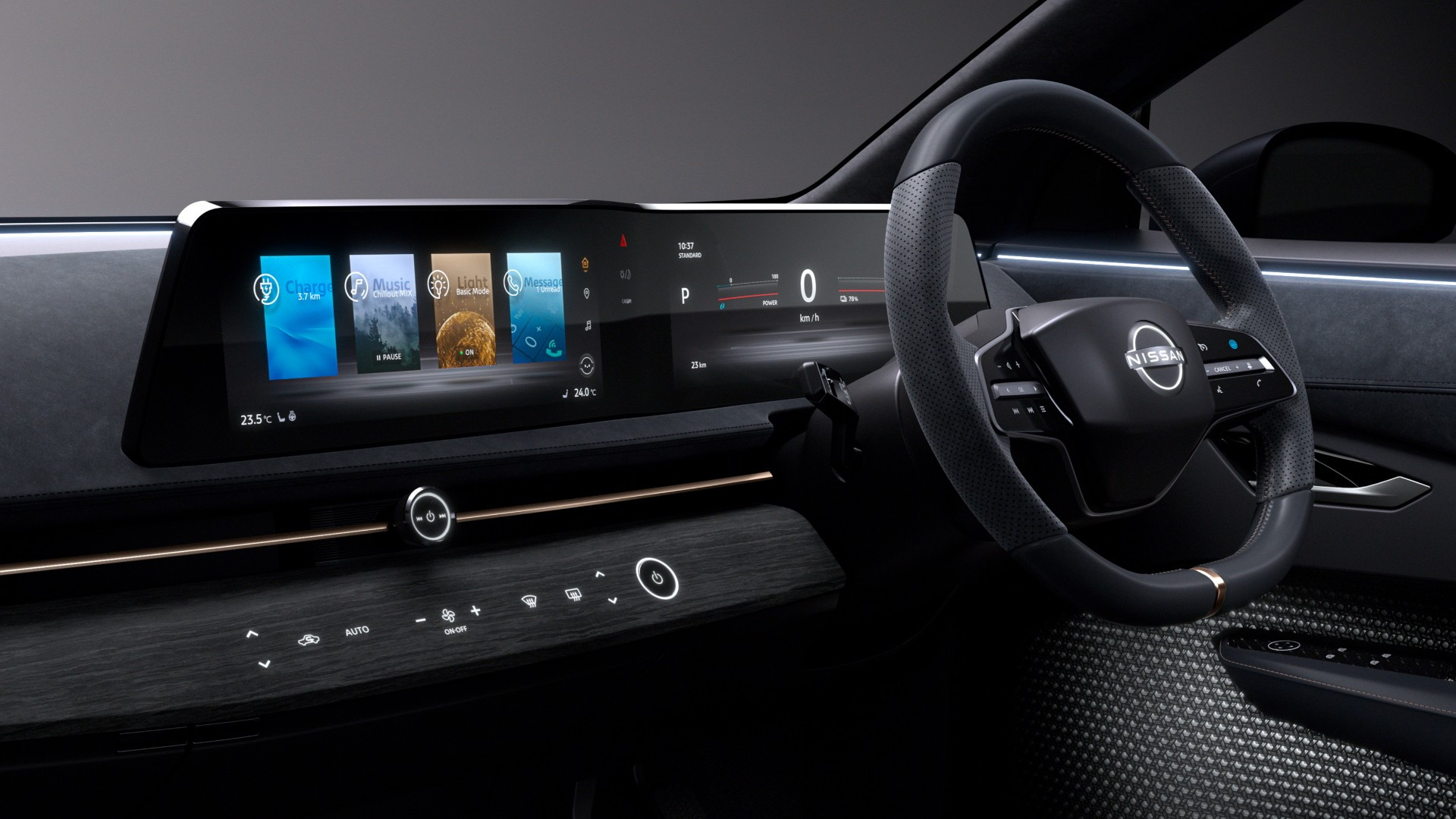 Nissan Ariya Concept instrument panel design