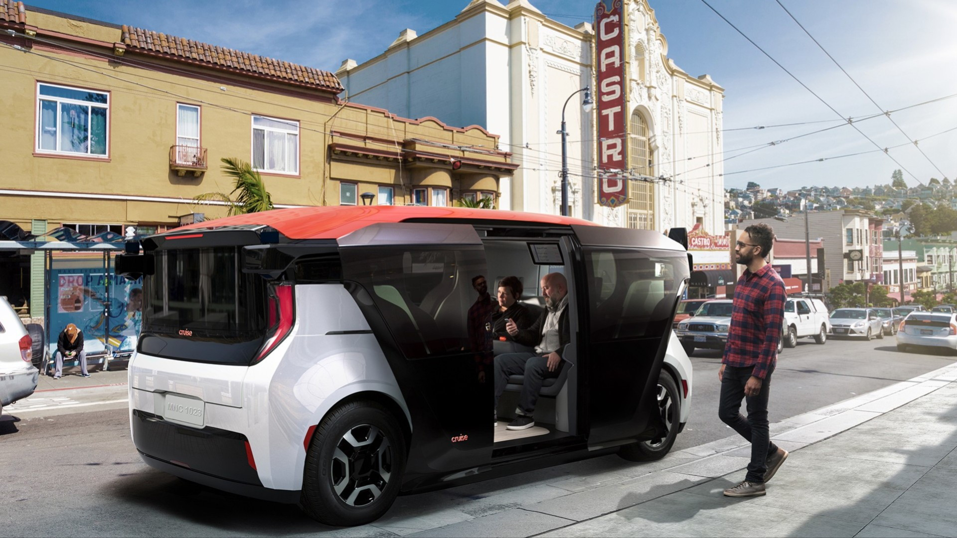 Cruise Origin driverless vehicle