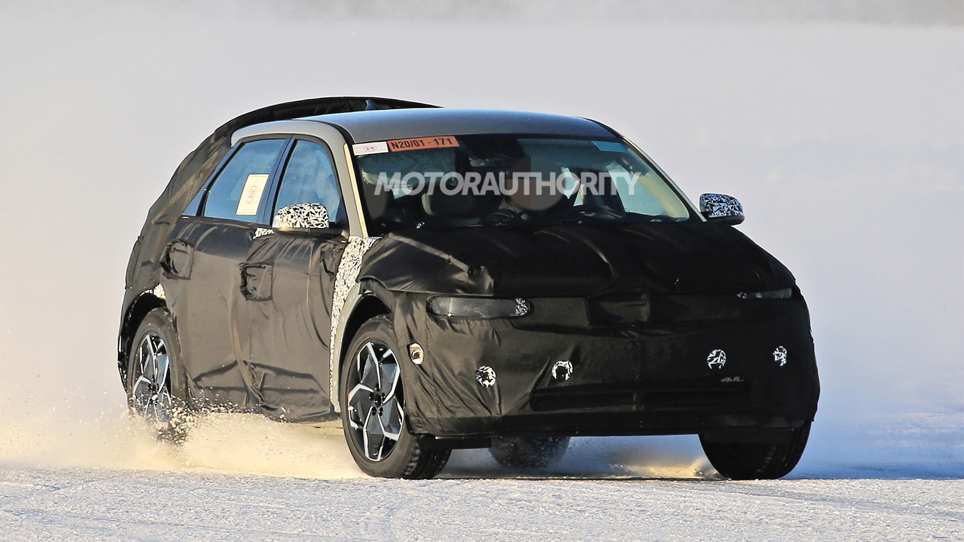 2021 Hyundai 45 EV spy shots - Photo credit: S. Baldauf/SB-Medien