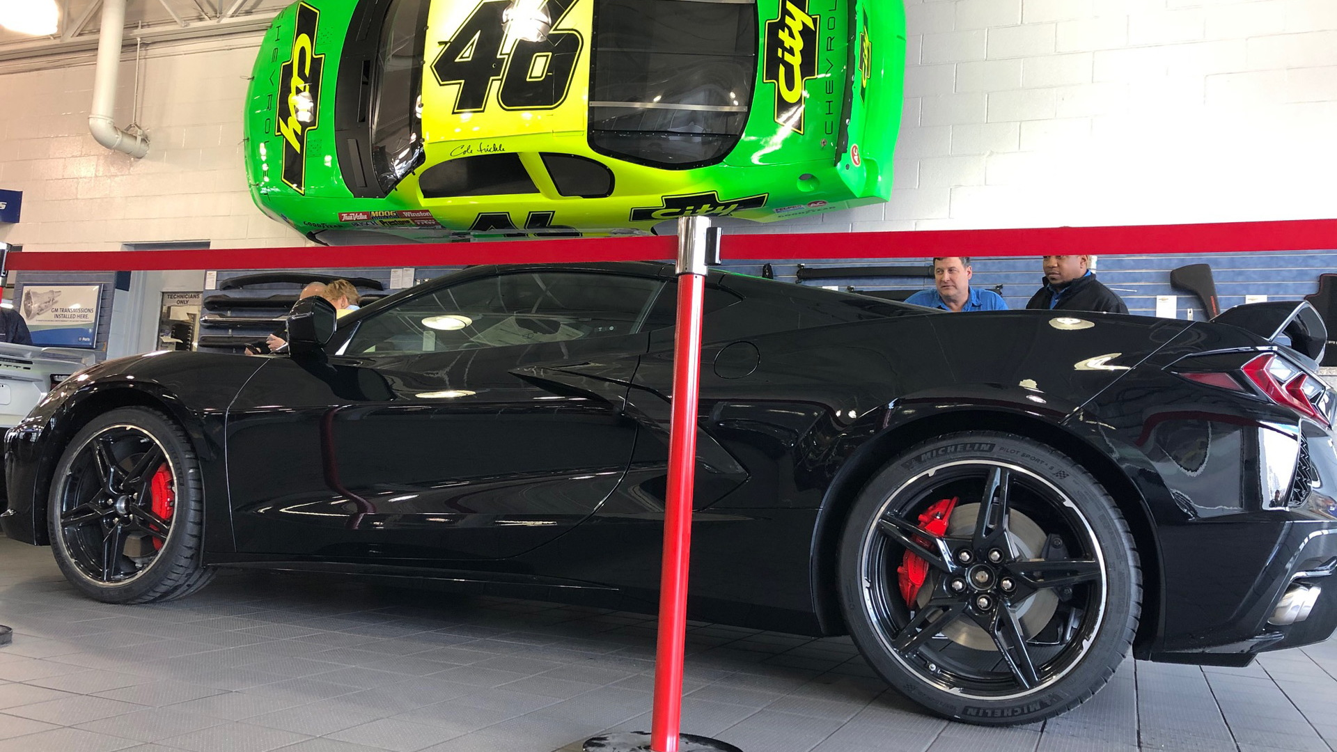 Delivery of 2020 Chevrolet Corvette Stingray with VIN ending in 001 at Rick Hendrick City Chevrolet