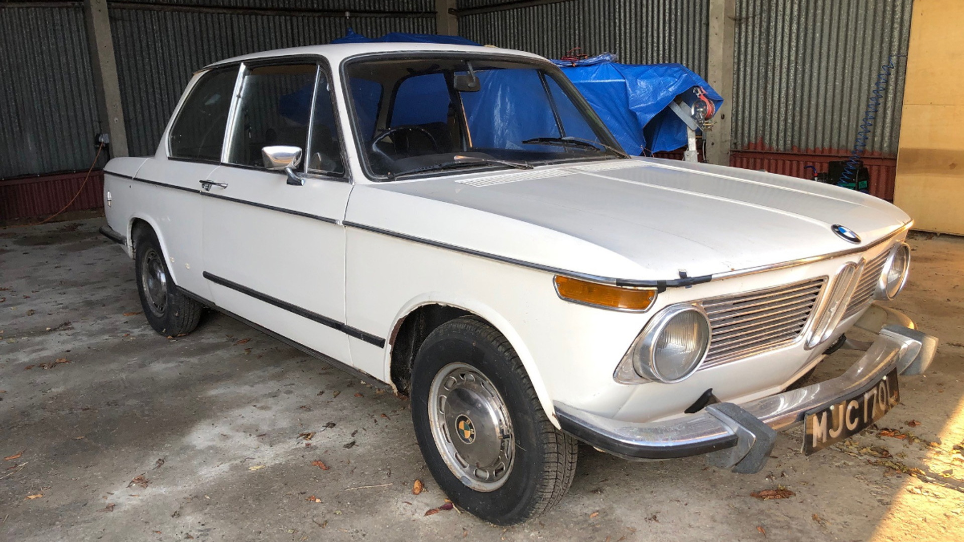 1972 BMW 1602 that Jamiroquai lead singer Jay Kay learned to drive in