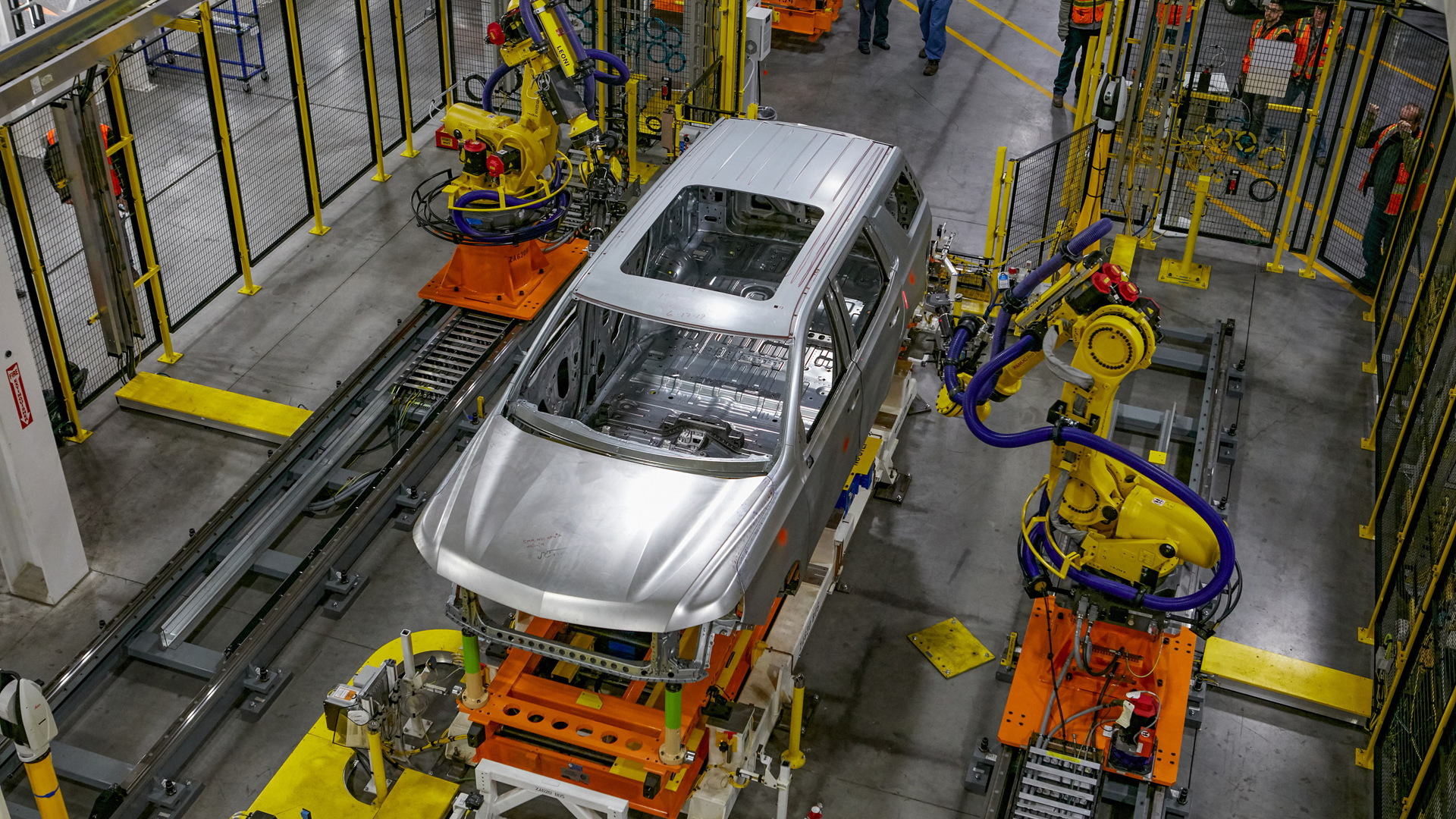 Production at General Motors' Arlington Assembly plant in Arlington, Texas