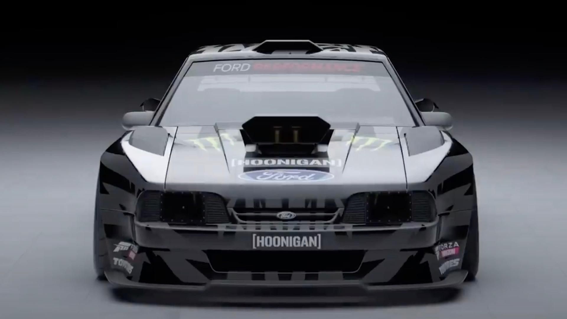 """Ken Block """"Hoonifox"""" Ford Mustang rendering"""