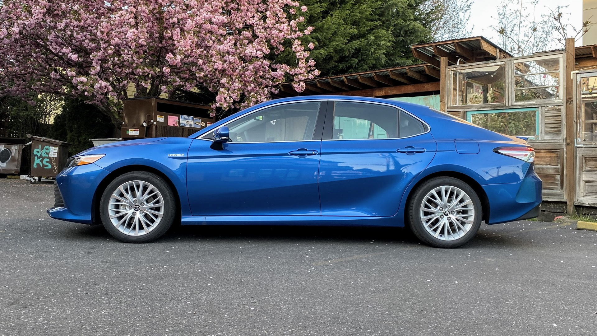 2020 Toyota Camry Hybrid XLE  -  Driven  -  Portland OR, April 2020