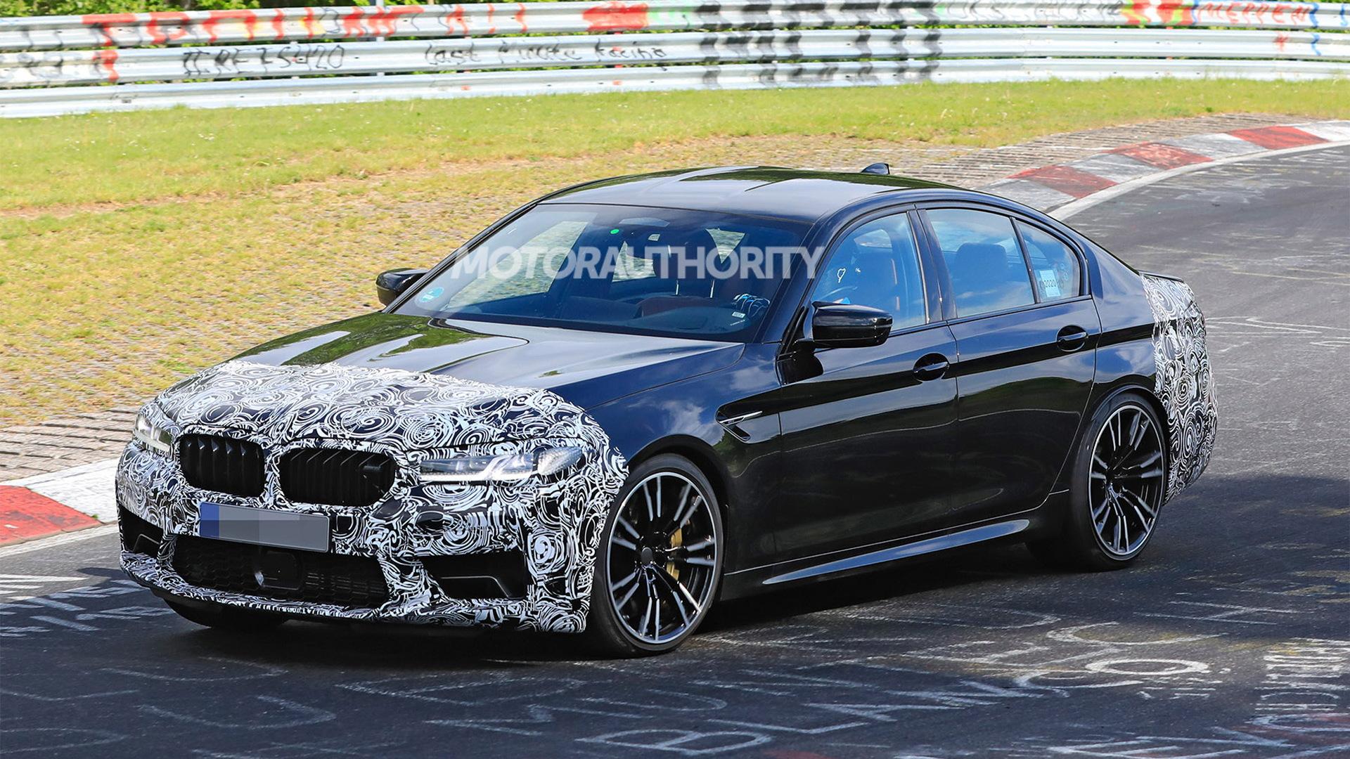 2021 BMW M5 facelift spy shots - Photo credit: S. Baldauf/SB-Medien
