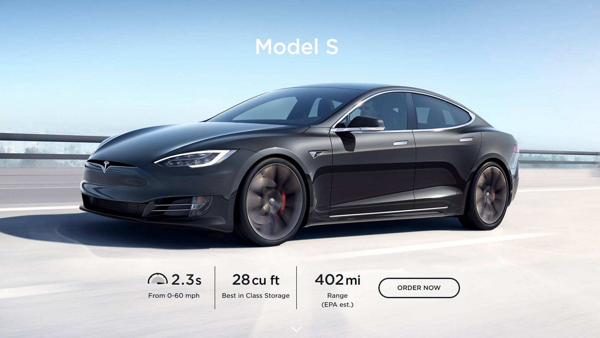 2020 Tesla Model S with EPA-rated range of 402 miles