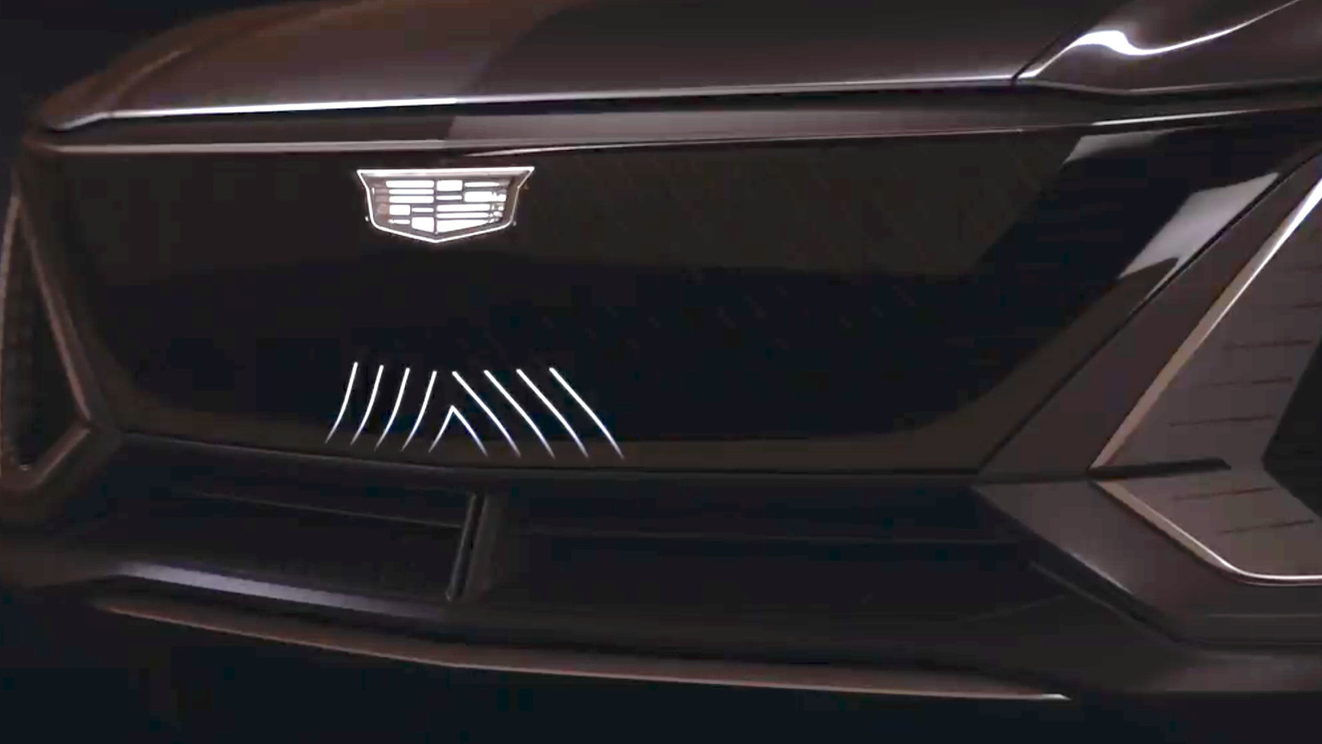 Cadillac Lyriq grille -- from teaser video, June 2020
