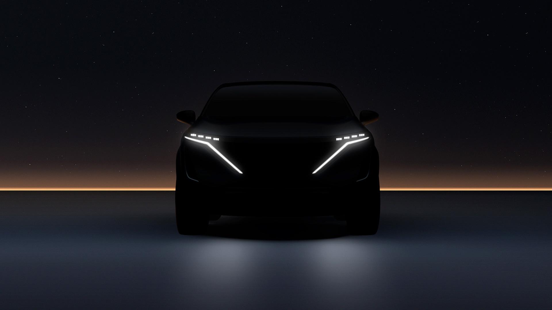 Teaser for Nissan Ariya debuting on July 15, 2020